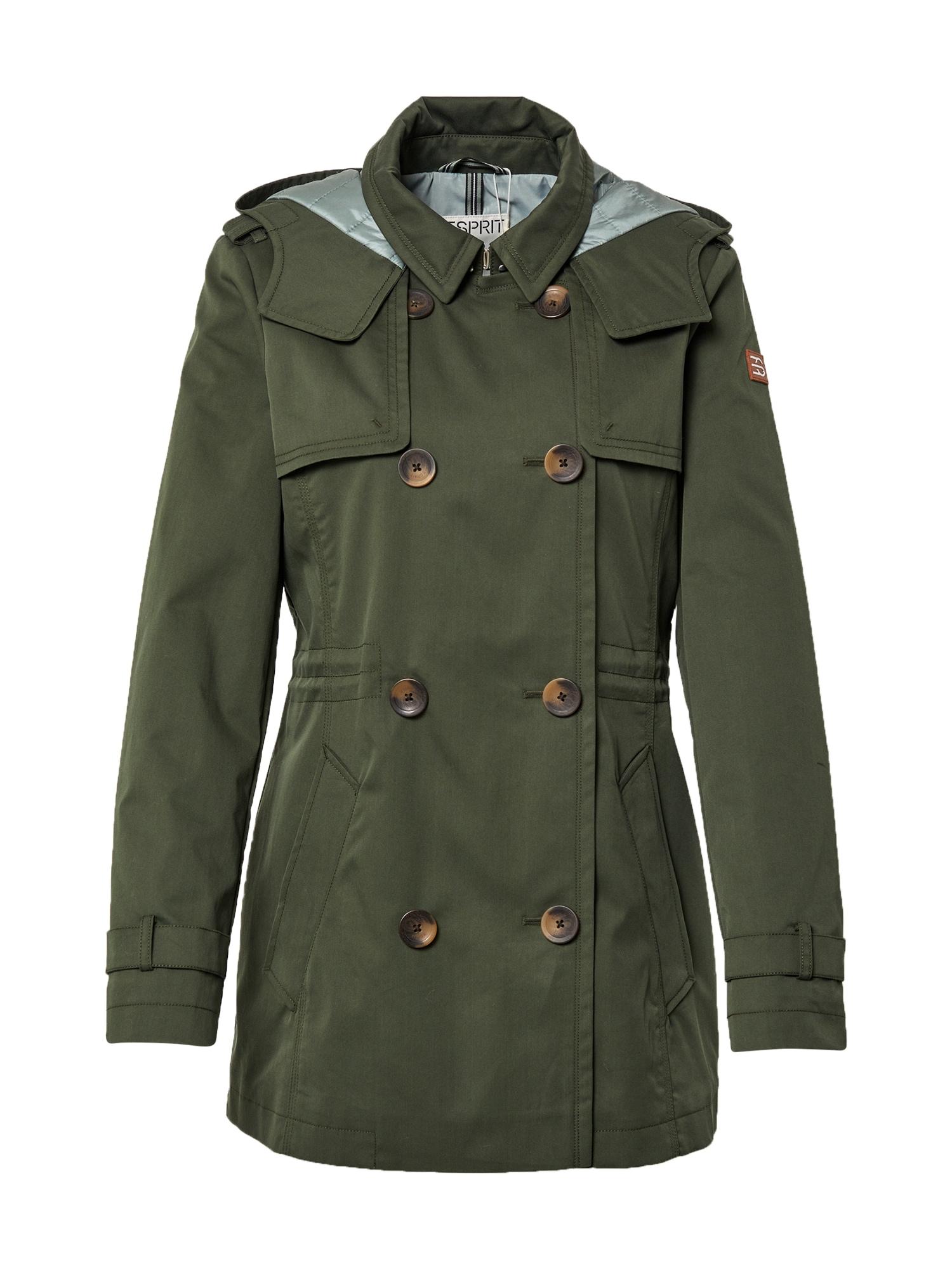 ESPRIT Demisezoninis paltas žalia