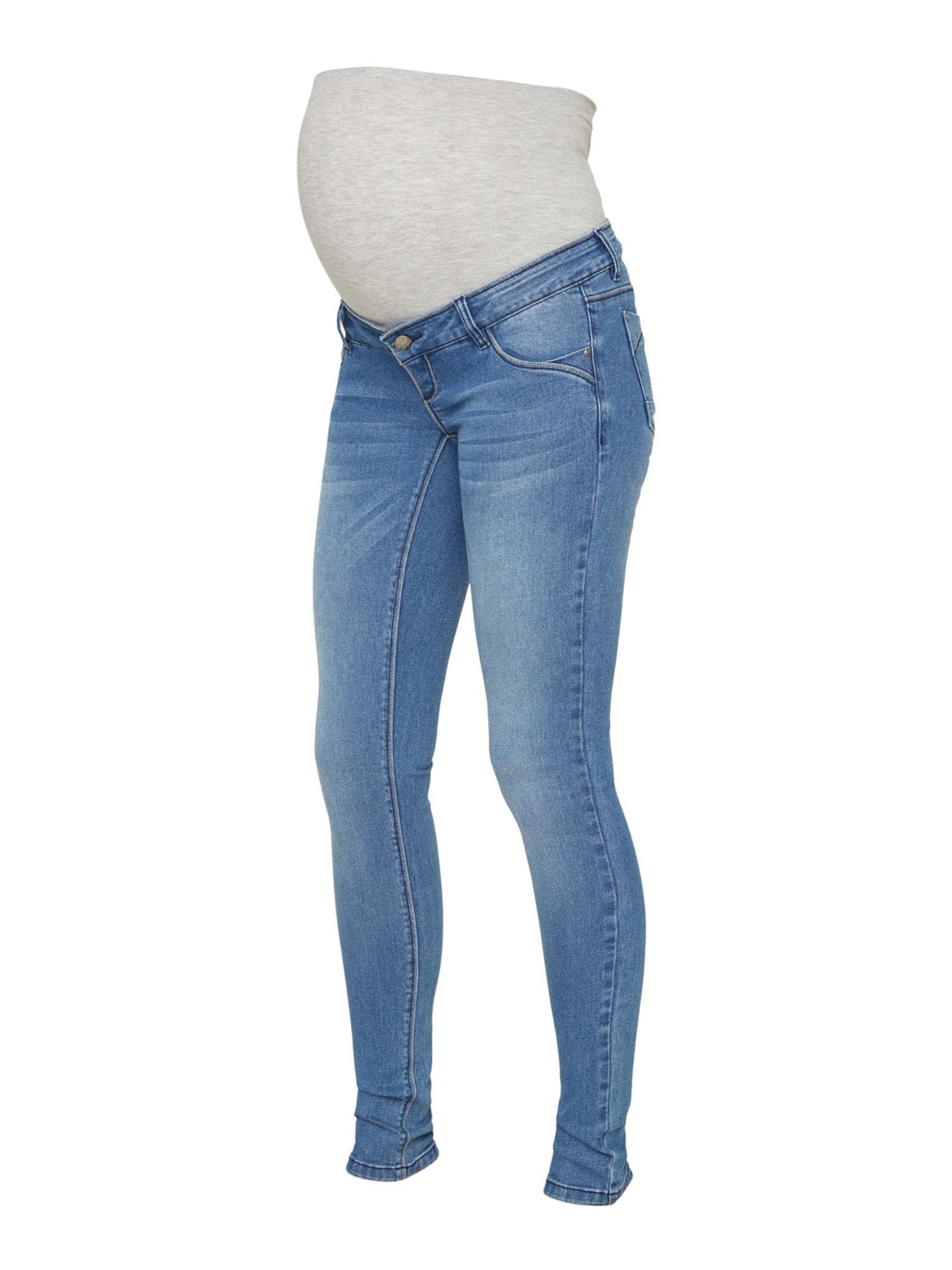 MAMALICIOUS Džinsai pilka / tamsiai (džinso) mėlyna