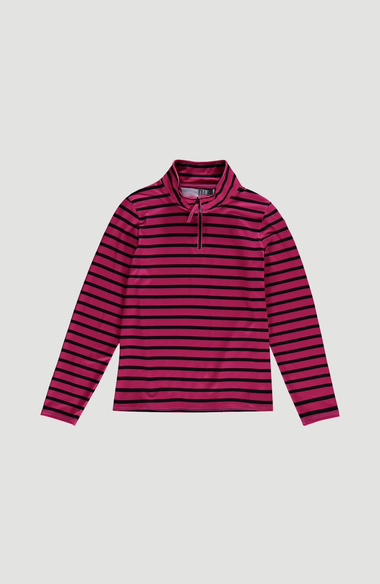 O'NEILL Funkcinis flisinis džemperis 'Stripe Half Zip' rožinė / juoda