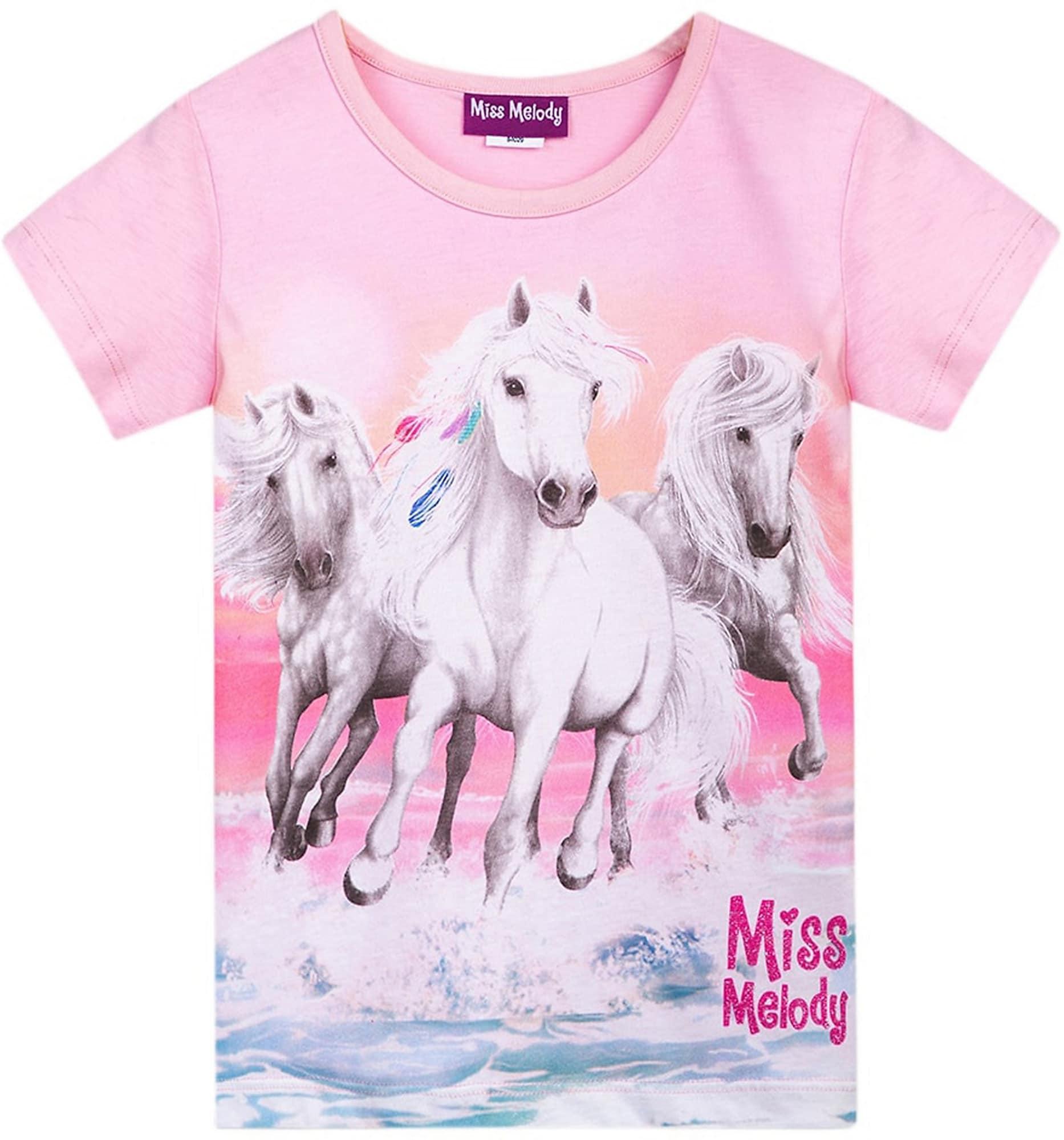 Miss Melody Marškinėliai rožinė / šviesiai pilka / balta / rožių spalva / šviesiai mėlyna