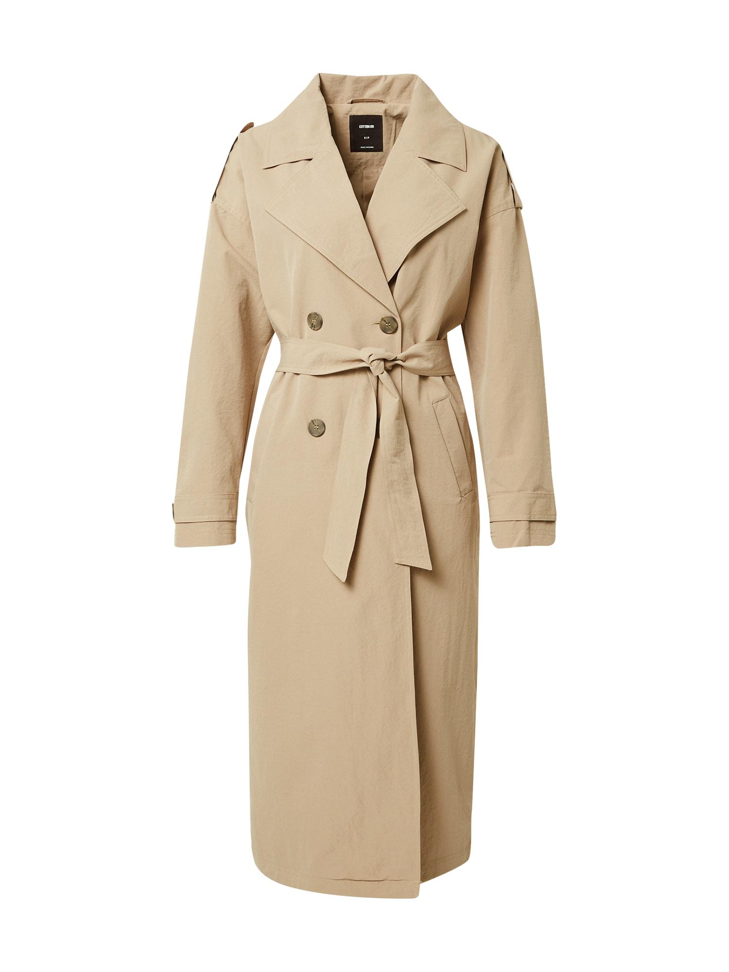 Cotton On Demisezoninis paltas smėlio spalva
