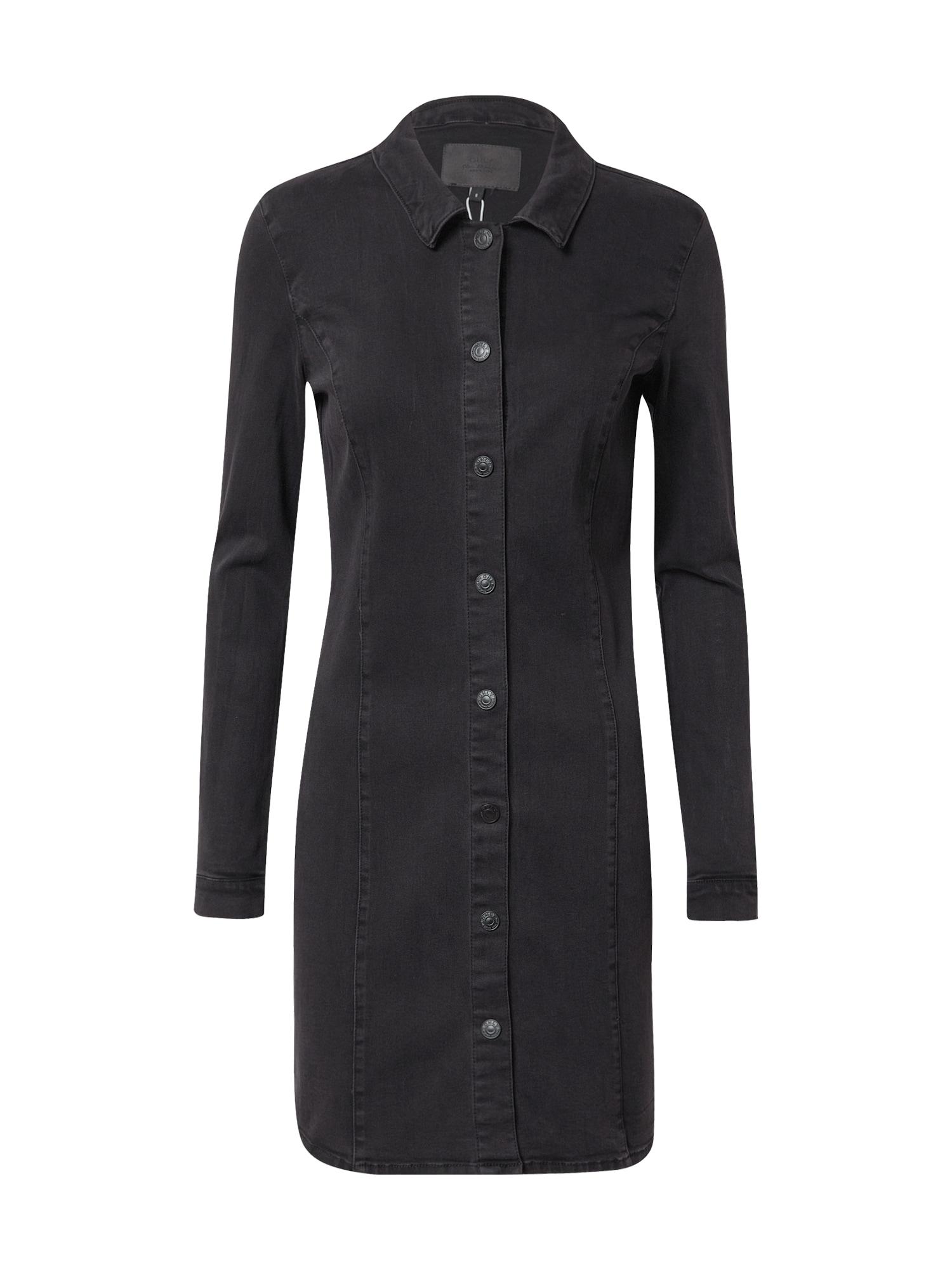 ONLY Košilové šaty 'Sharlene'  černá