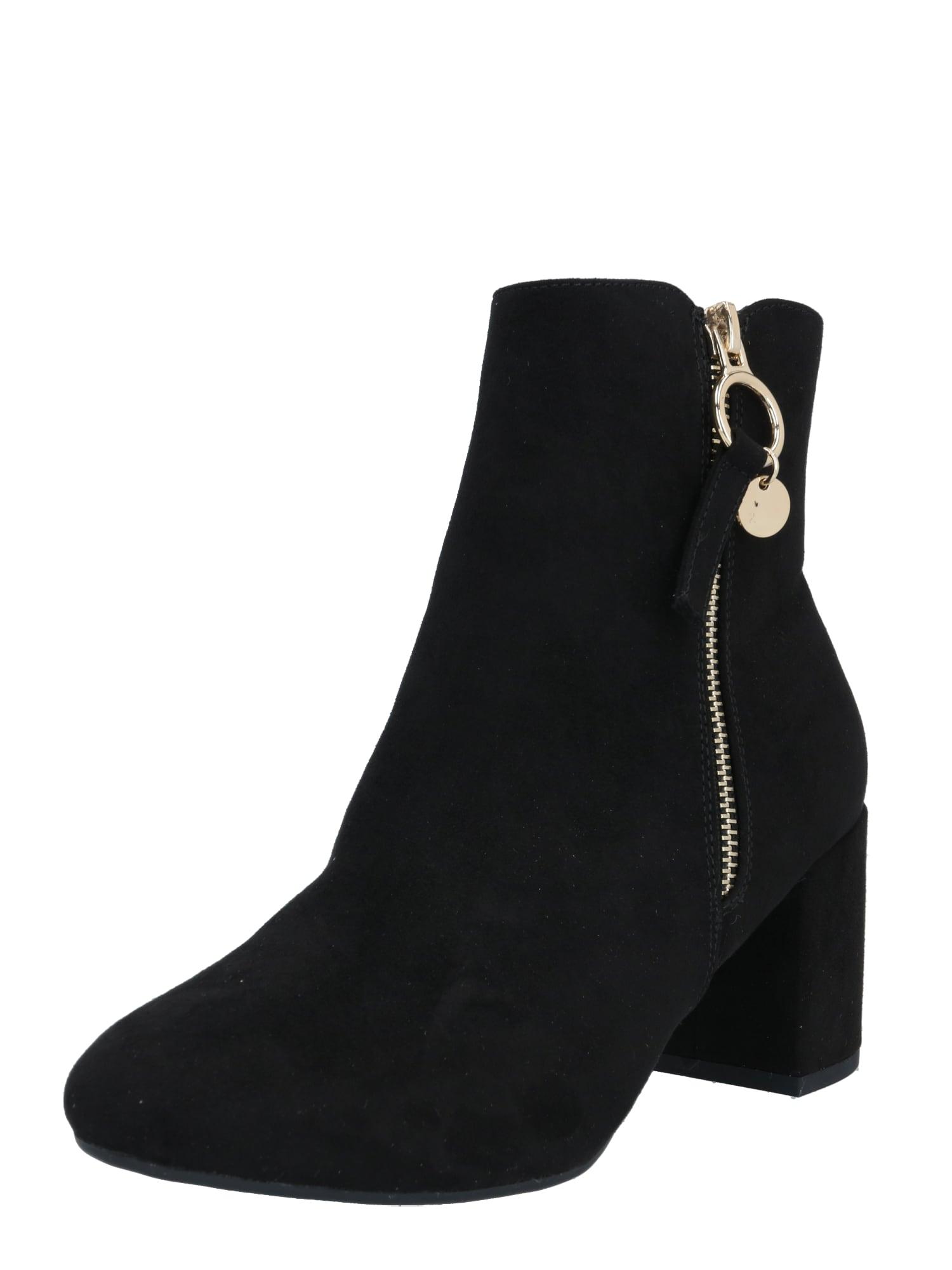 Dorothy Perkins Kotníkové boty 'Adaline'  černá