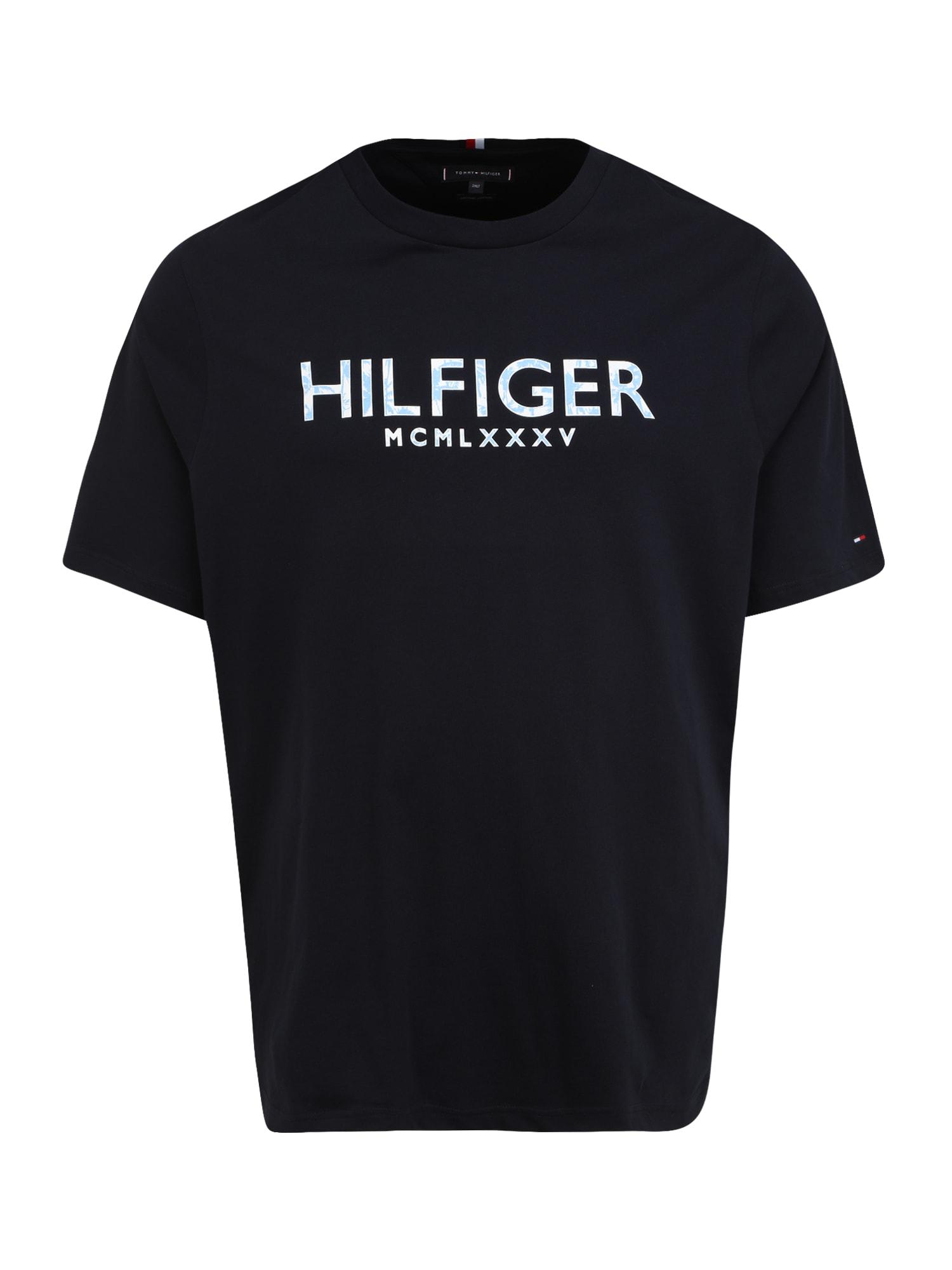 Tommy Hilfiger Big & Tall Marškinėliai tamsiai mėlyna / sidabrinė