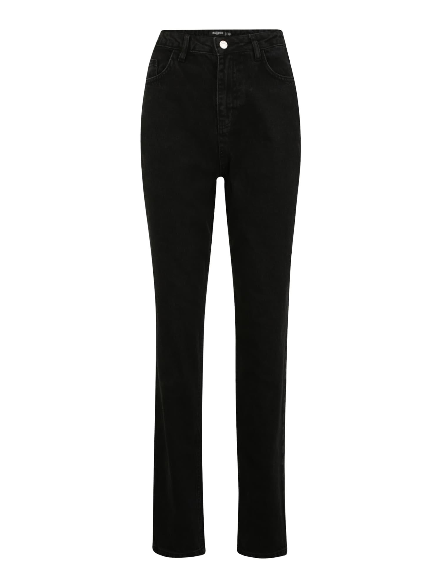 Missguided Tall Džinsai juodo džinso spalva