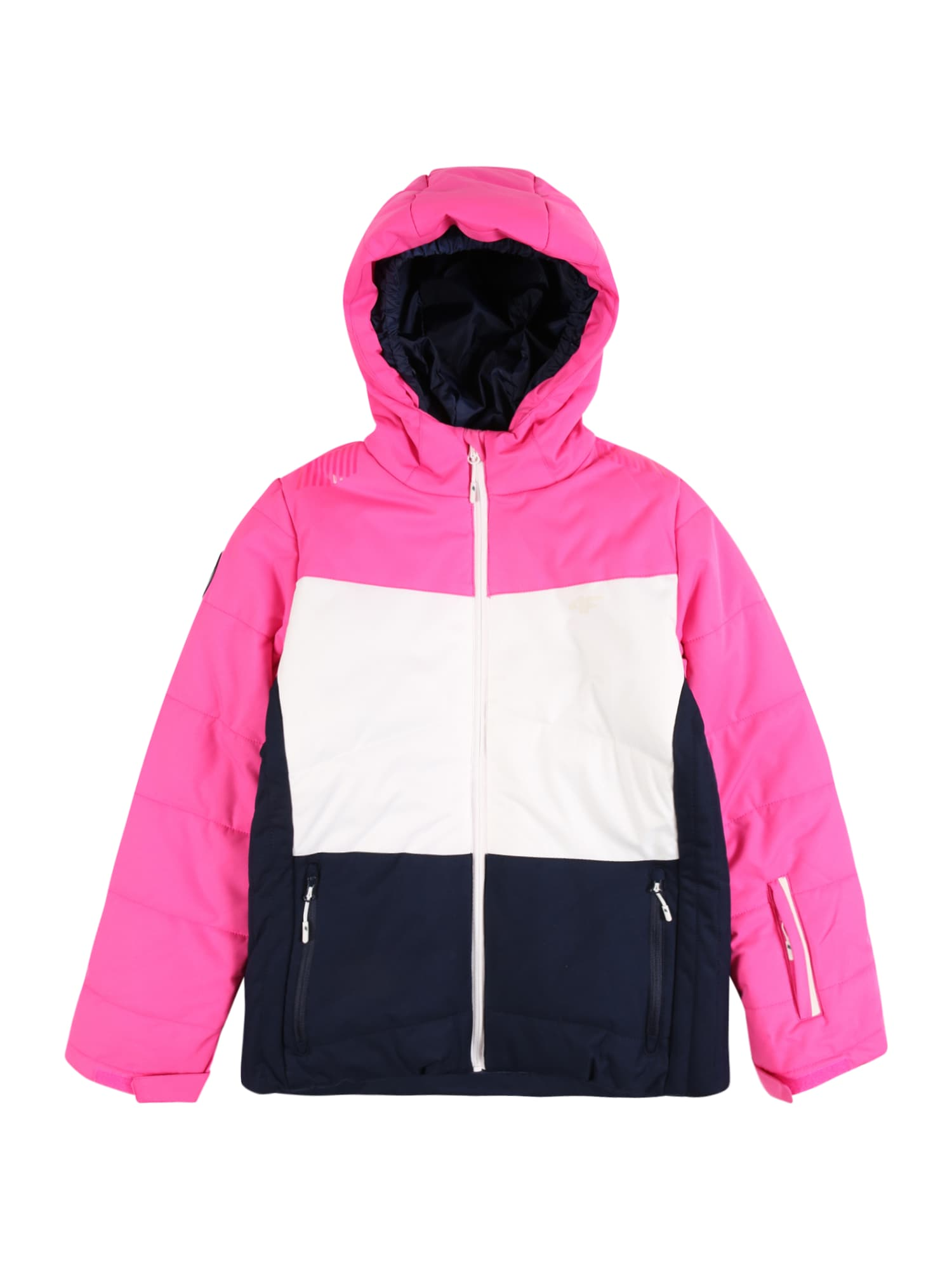 4F Laisvalaikio striukė balta / rožinė / tamsiai mėlyna