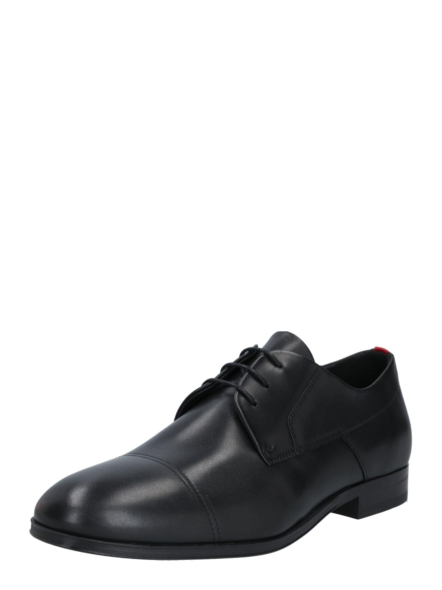 HUGO Šněrovací boty 'Boheme'  černá