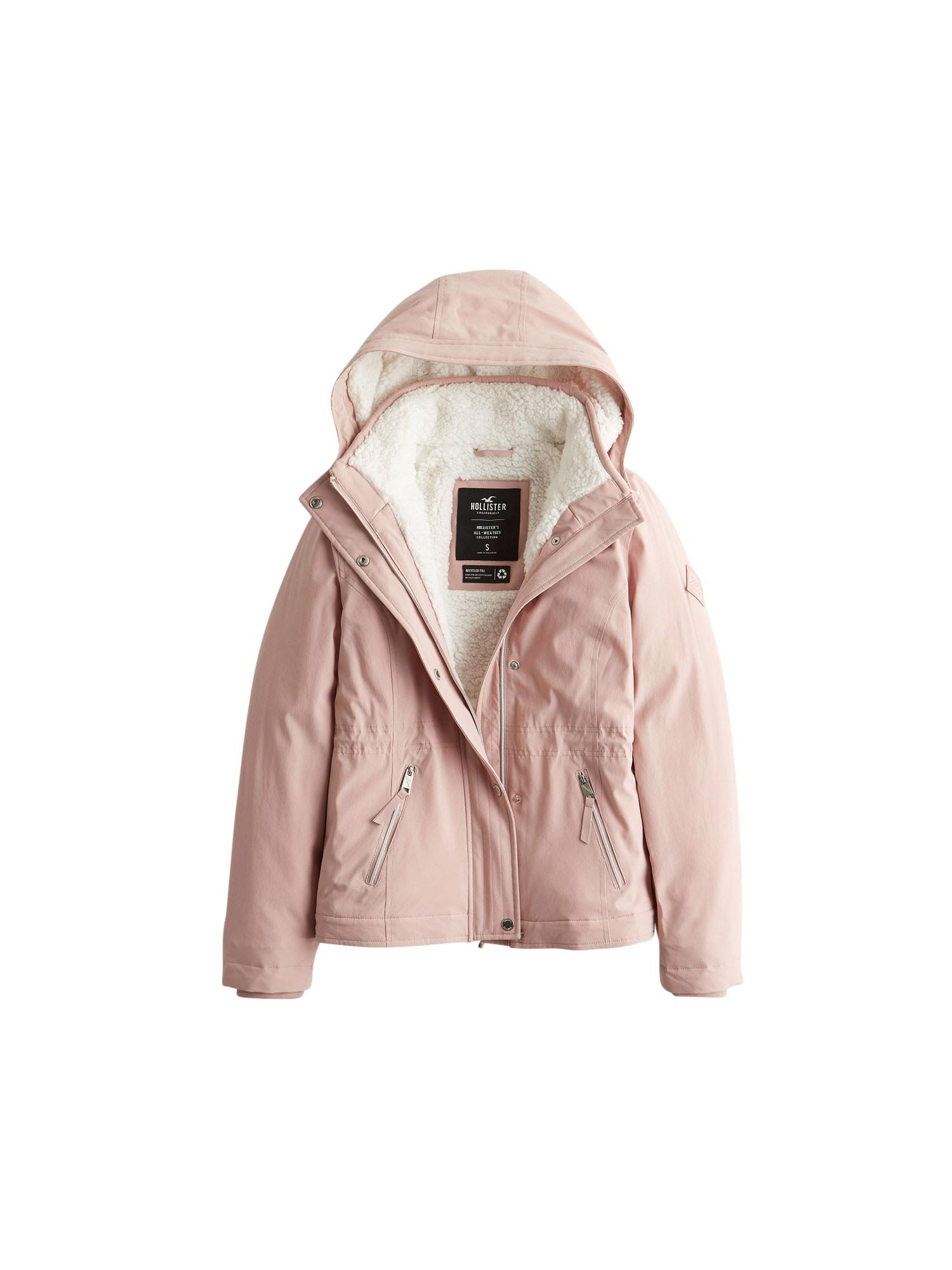 HOLLISTER Žieminė striukė ryškiai rožinė spalva