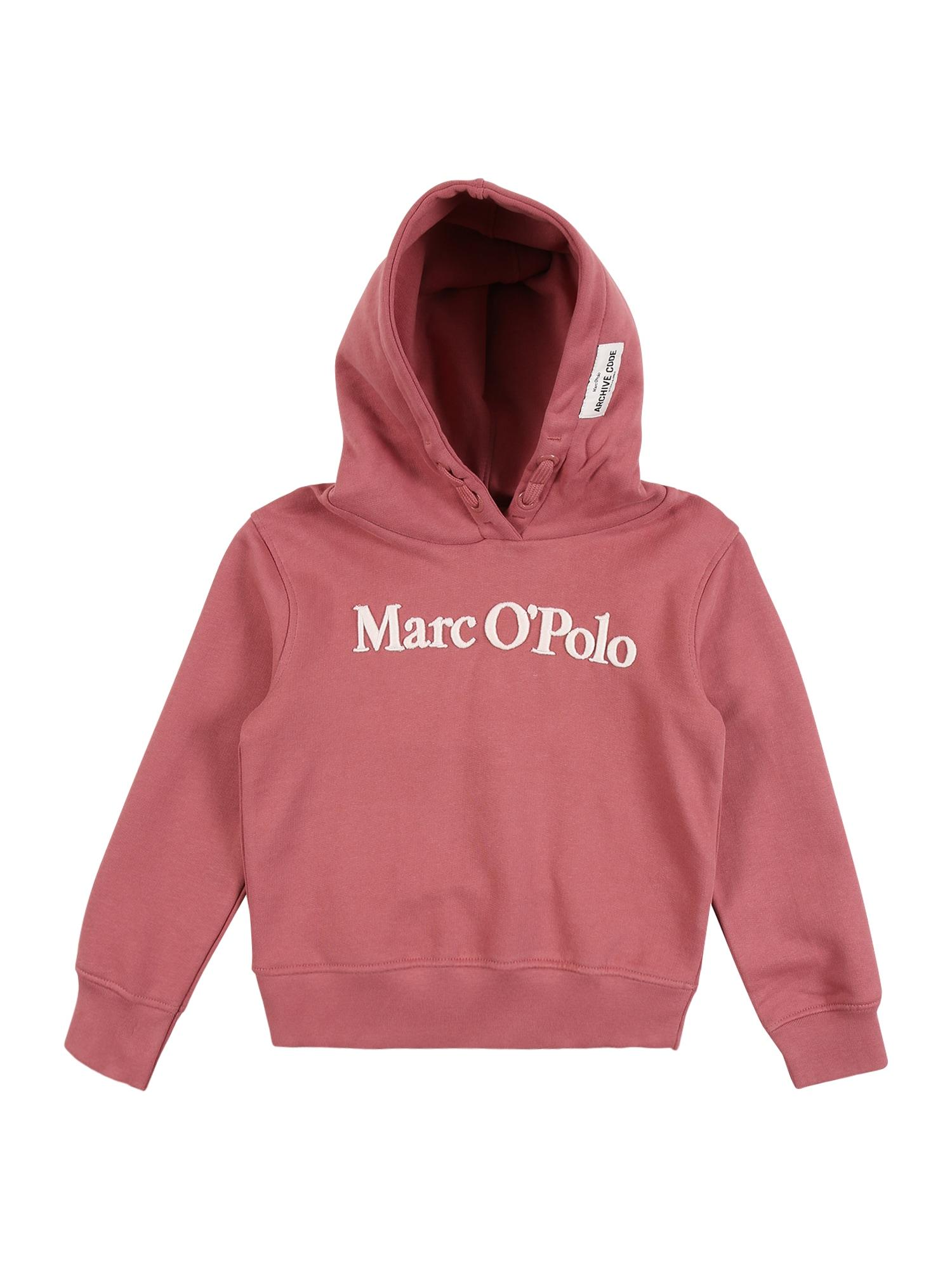 Marc O'Polo Junior Megztinis be užsegimo ryškiai rožinė spalva / balta