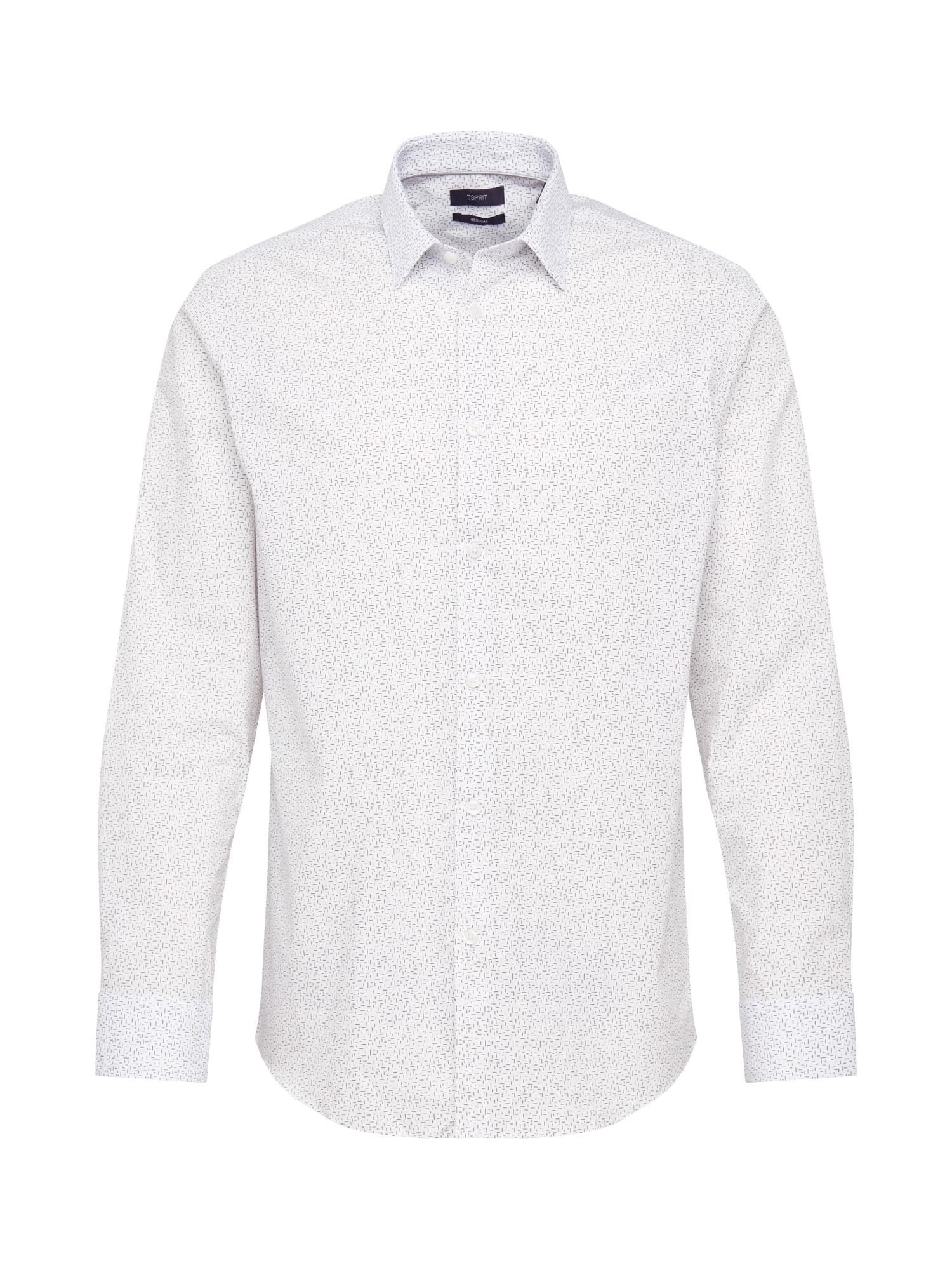 Esprit Collection Marškiniai balta / pilka