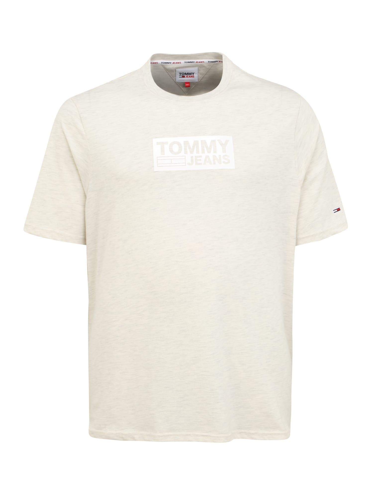 Tommy Jeans Plus Marškinėliai balta / kremo