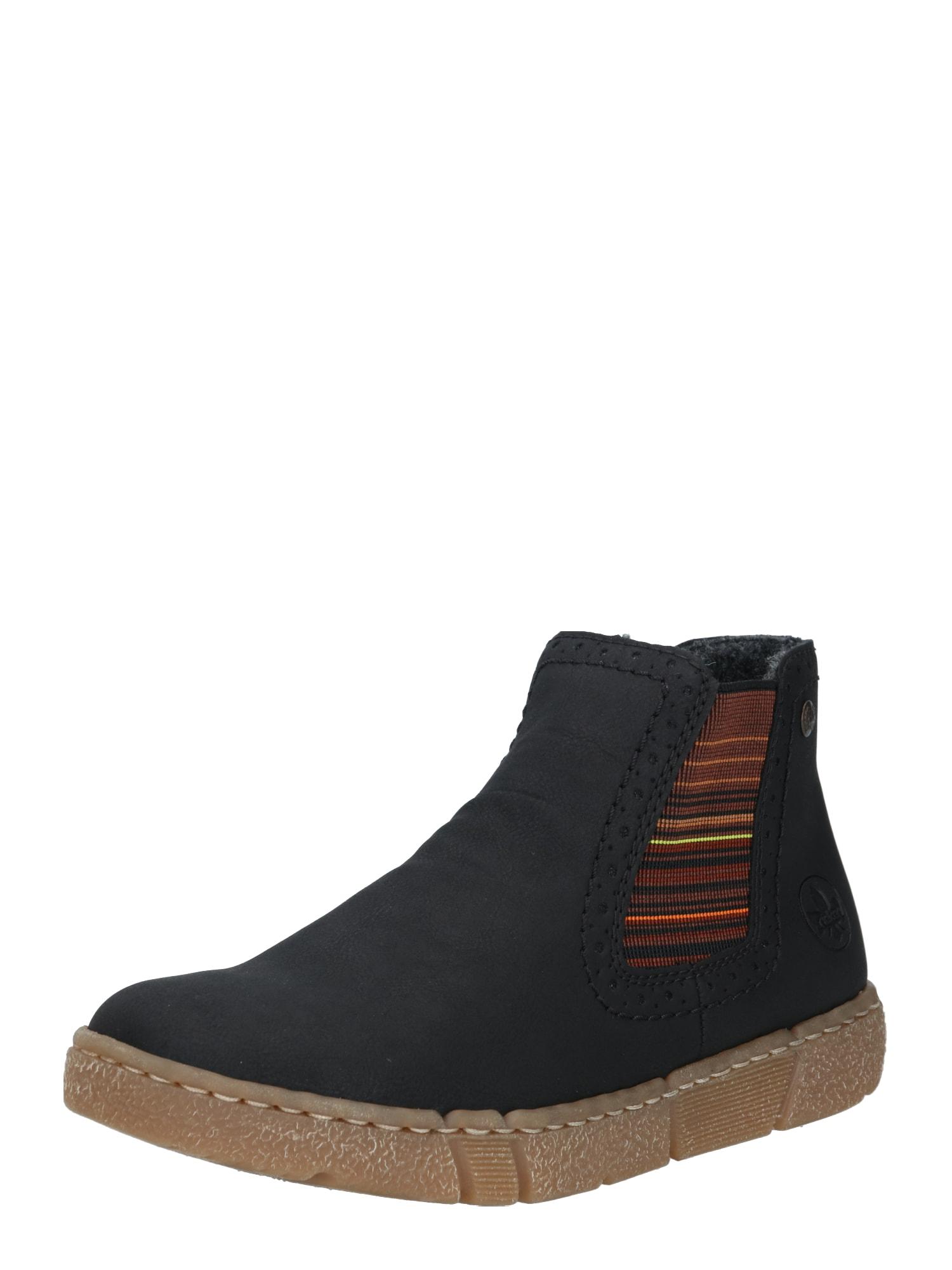 RIEKER Chelsea boty  mix barev / černá