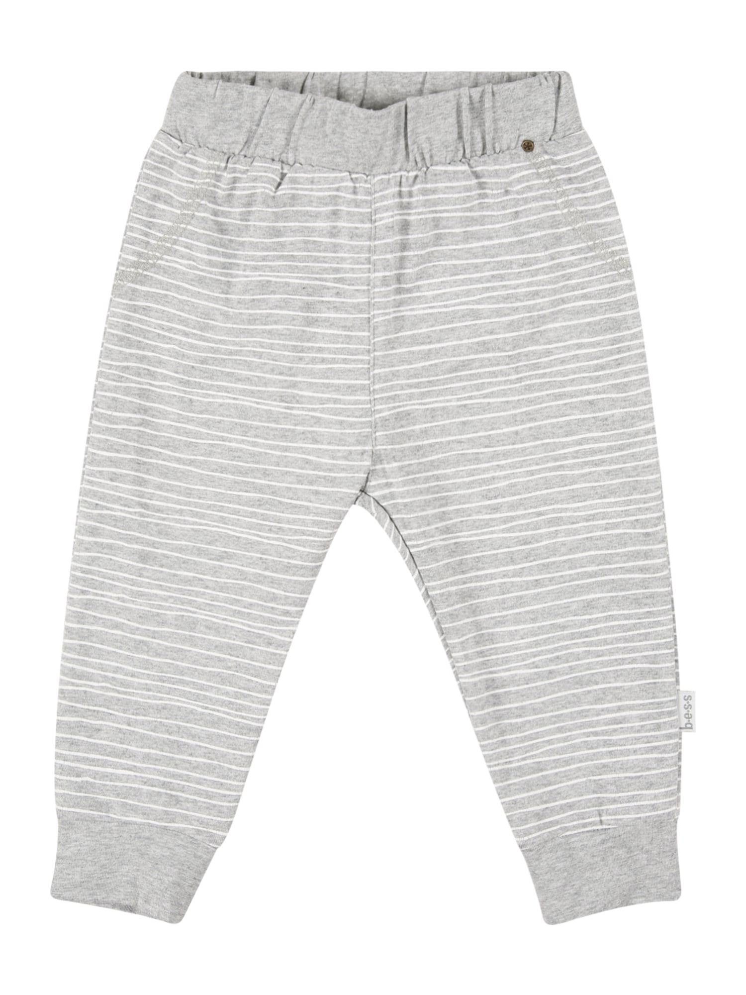 BESS Kelnės balta / pilka