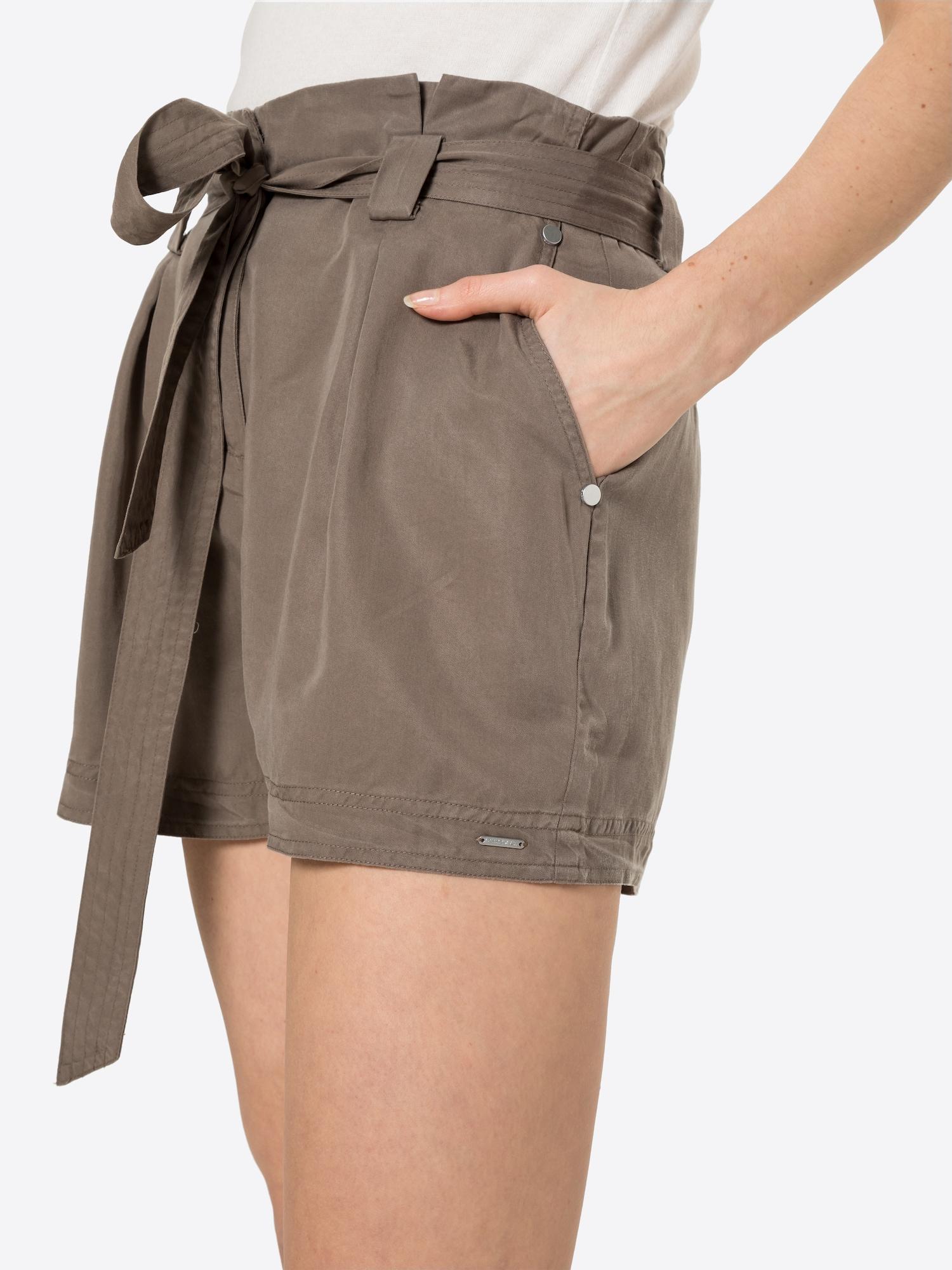 Superdry Plisované nohavice 'Desert Paper'  mokka.