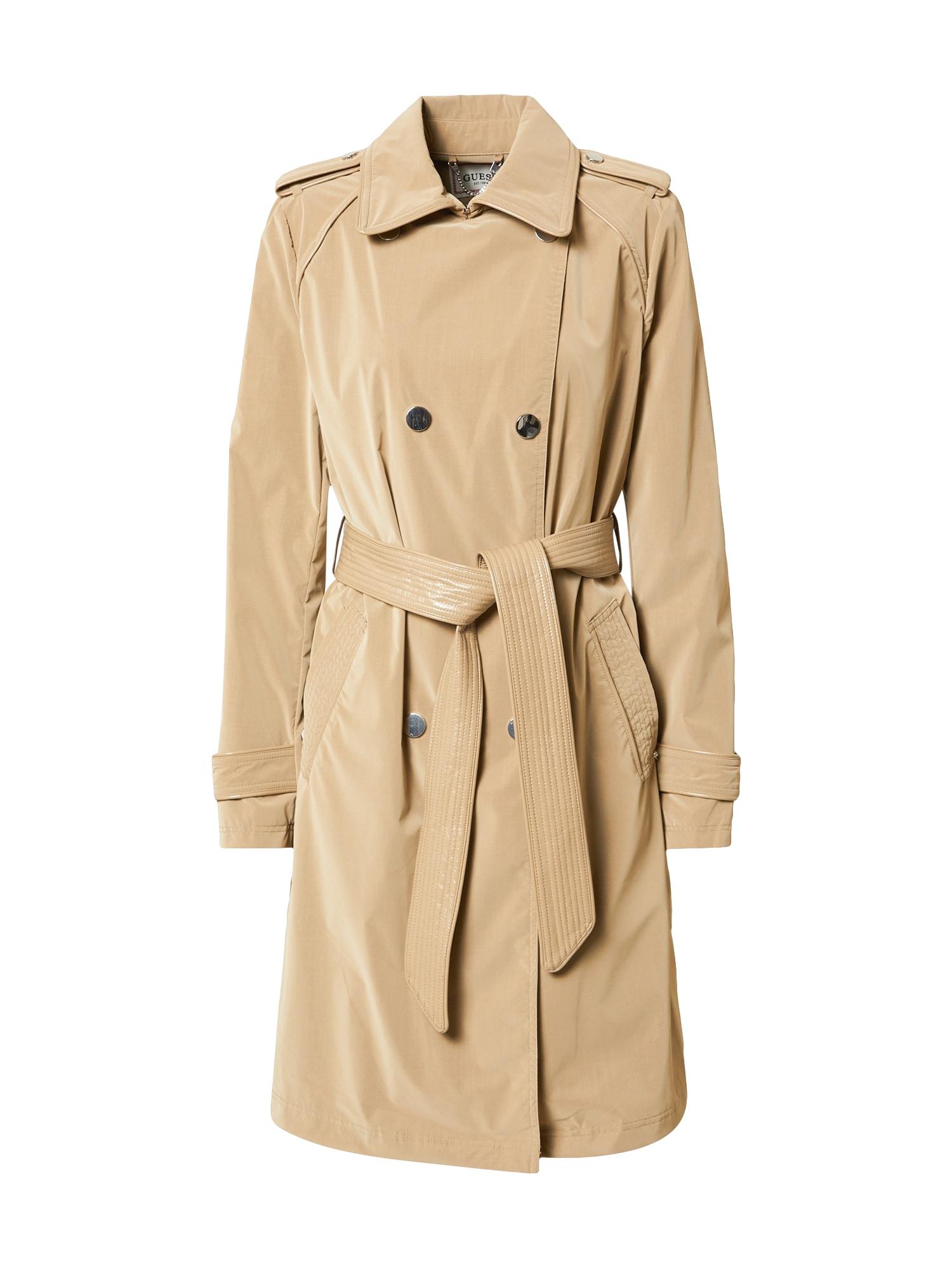 GUESS Demisezoninis paltas 'SUSAN' smėlio spalva