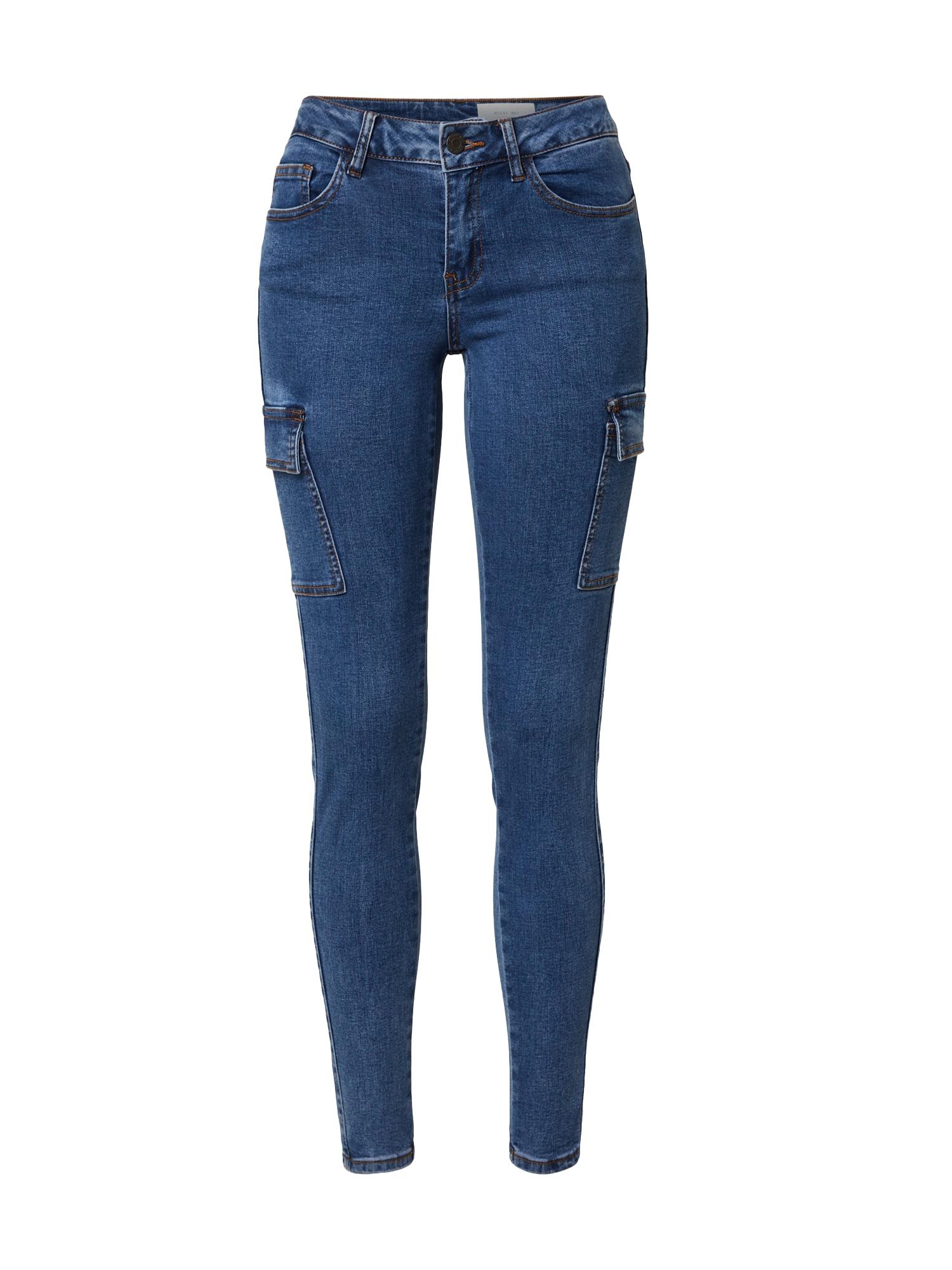 Noisy may Darbinio stiliaus džinsai tamsiai (džinso) mėlyna