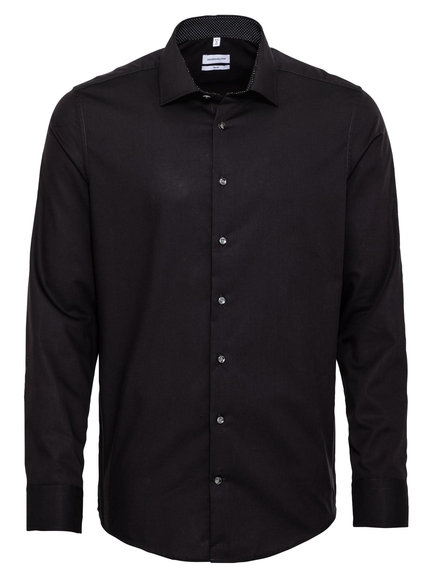 SEIDENSTICKER Dalykinio stiliaus marškiniai juoda