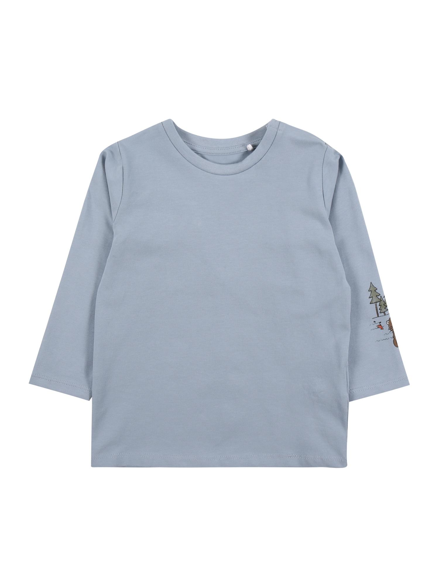 NAME IT Marškinėliai 'BODAR' šviesiai mėlyna / šviesiai žalia