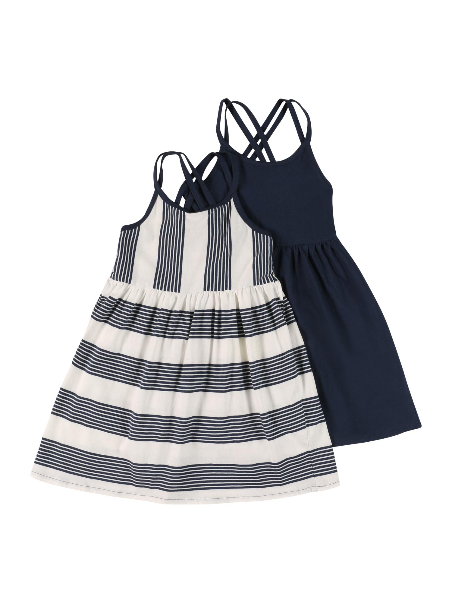 LEMON BERET Suknelė tamsiai mėlyna / balta