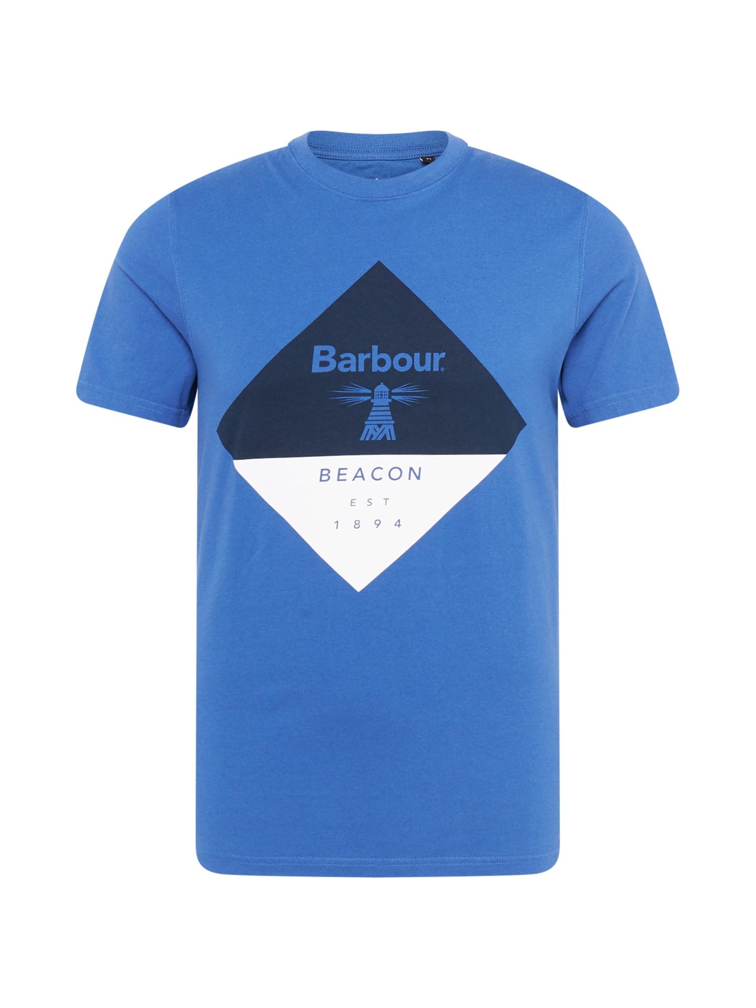"""Barbour Beacon Marškinėliai sodri mėlyna (""""karališka"""") / tamsiai mėlyna jūros spalva / balta"""