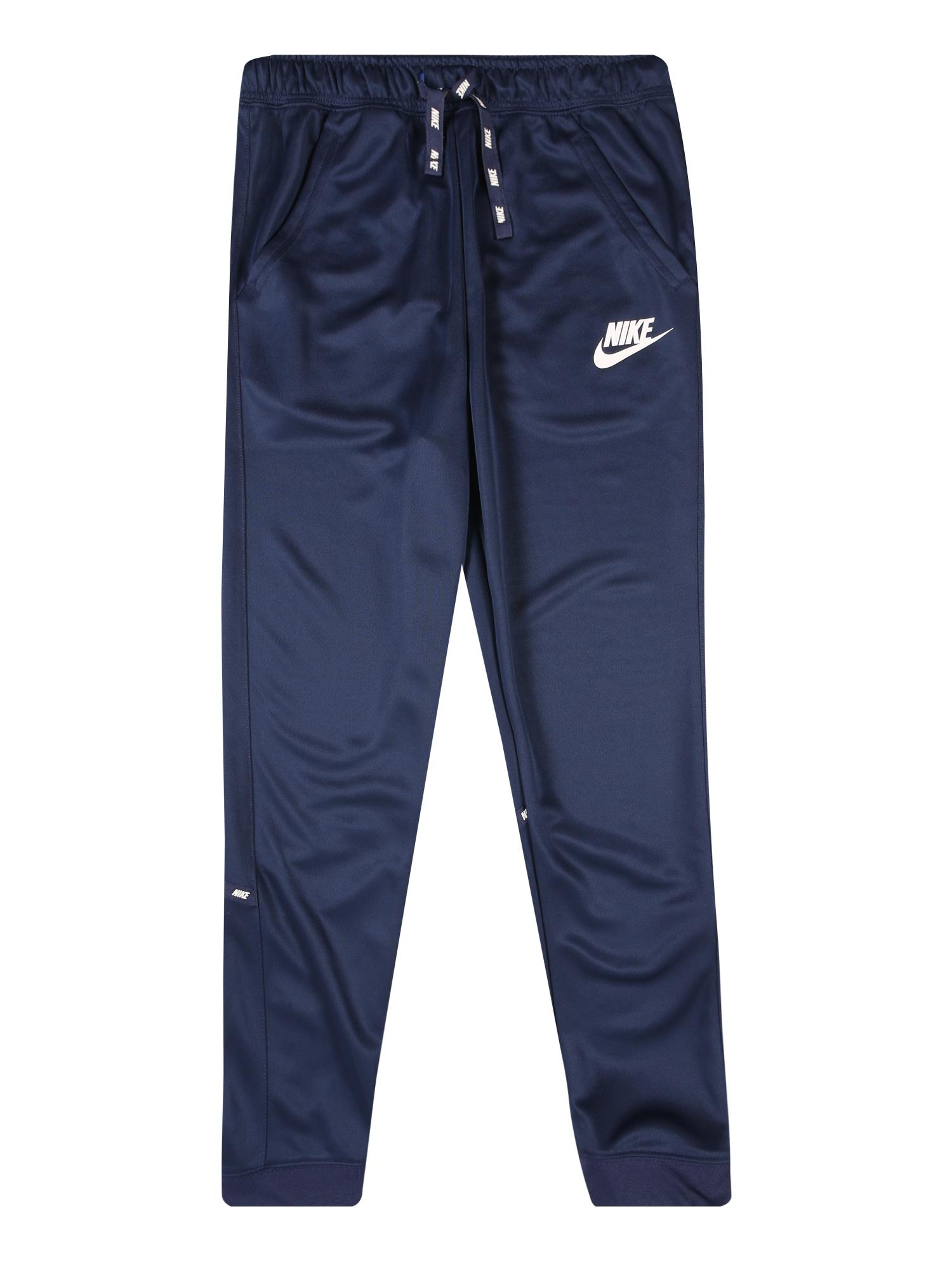 Nike Sportswear Kalhoty  bílá / námořnická modř