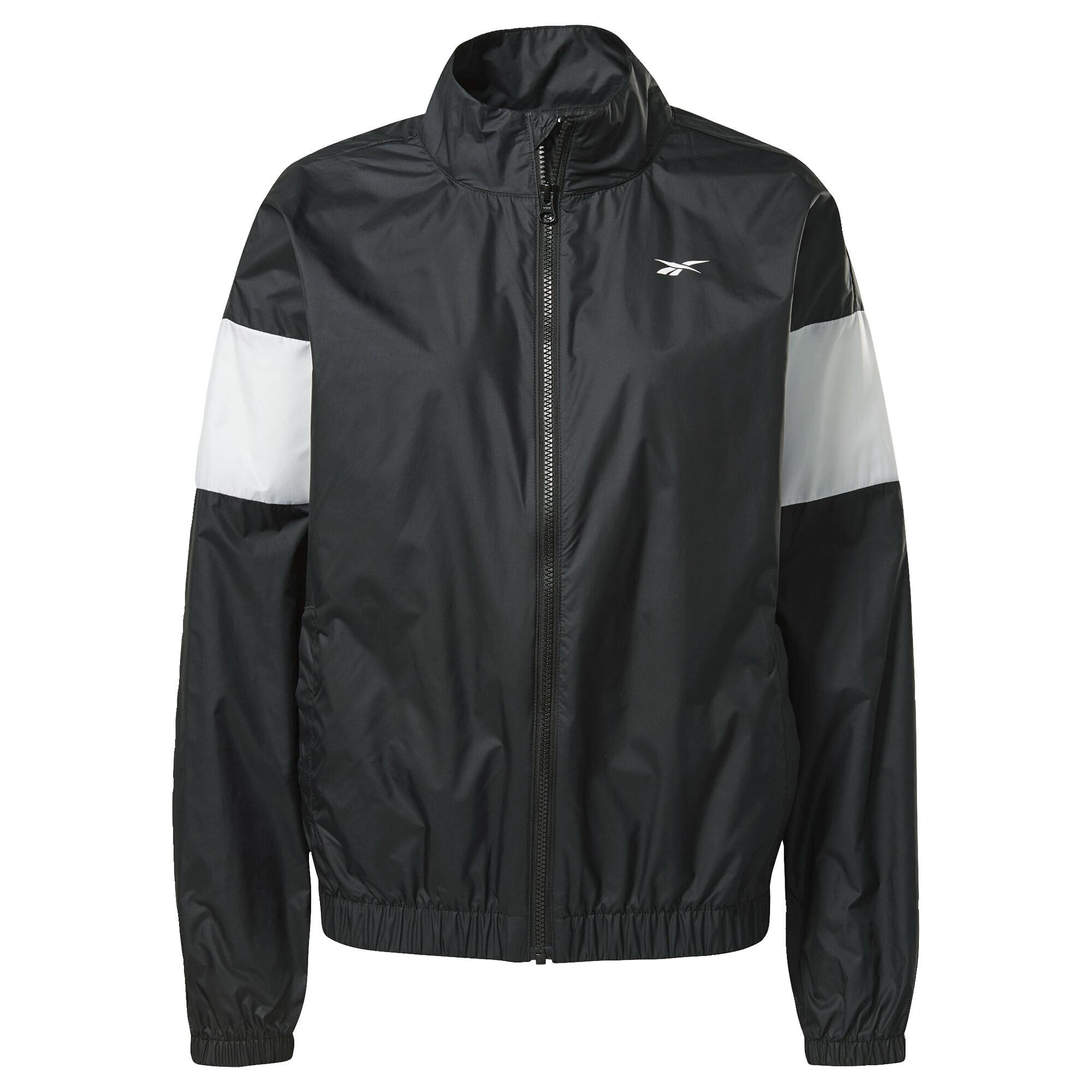 REEBOK Džemperis treniruotėms juoda / balta