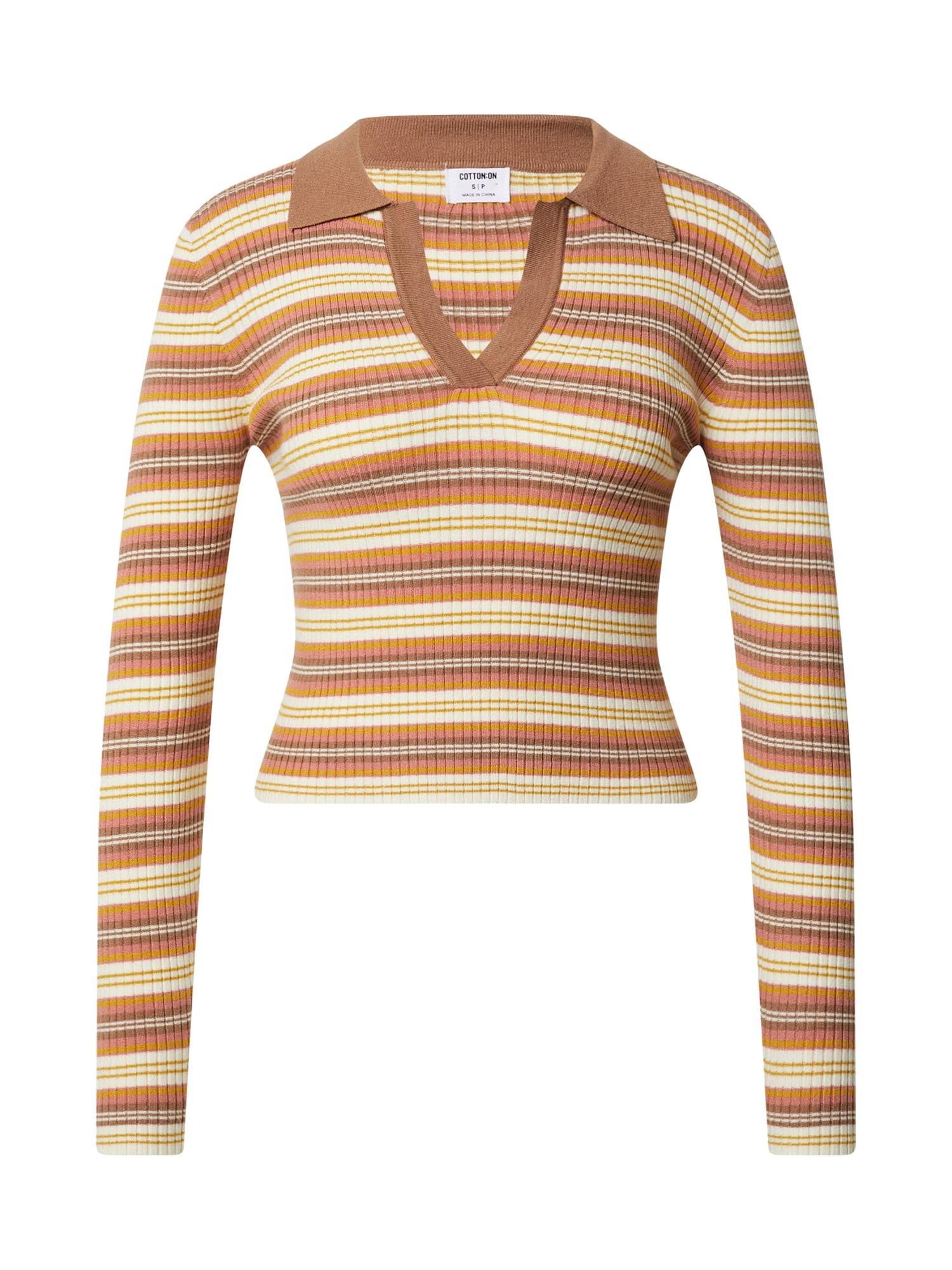 Cotton On Megztinis ruda / smėlio / tamsiai geltona / rožinė