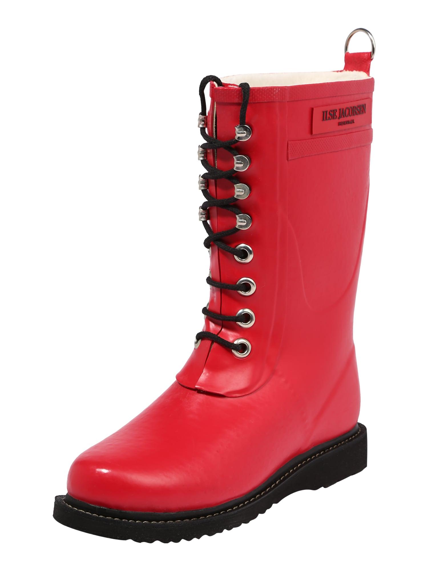 ILSE JACOBSEN Guminiai batai tamsiai raudona