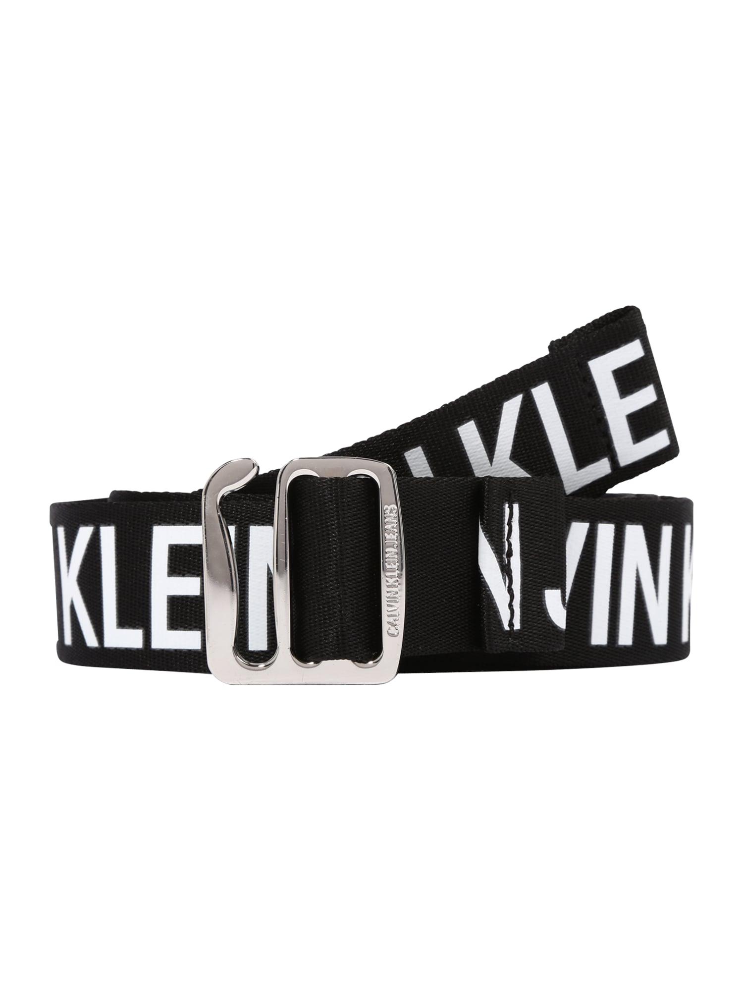 Calvin Klein Jeans Diržas juoda / balta