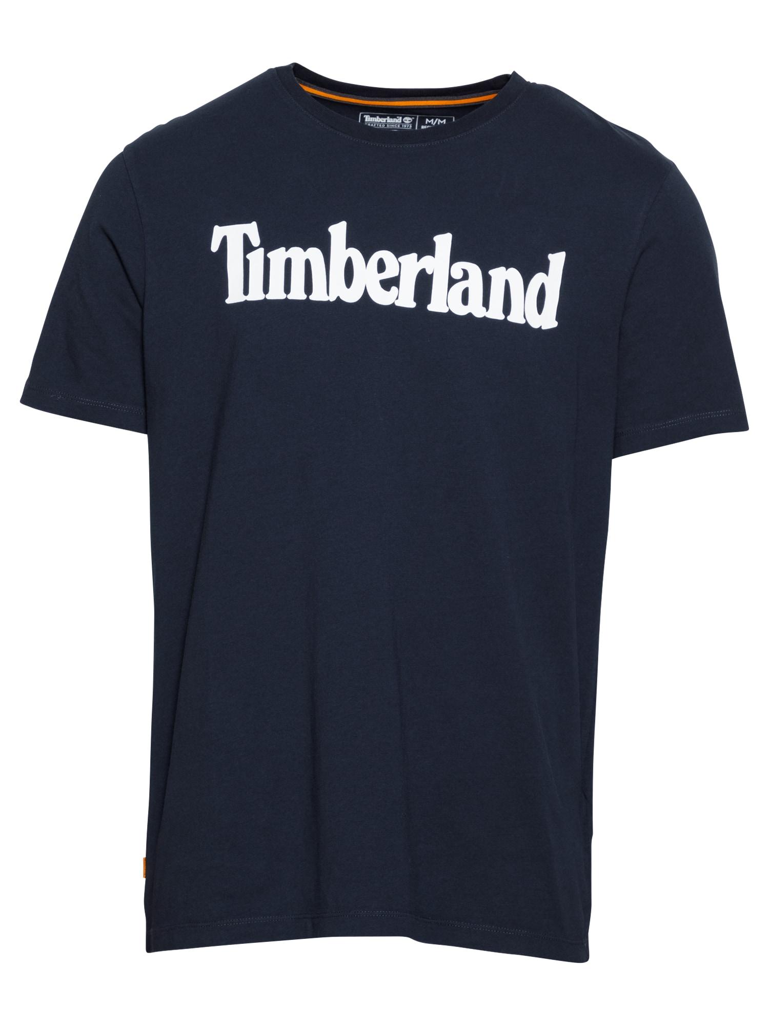 TIMBERLAND Marškinėliai safyro / balta
