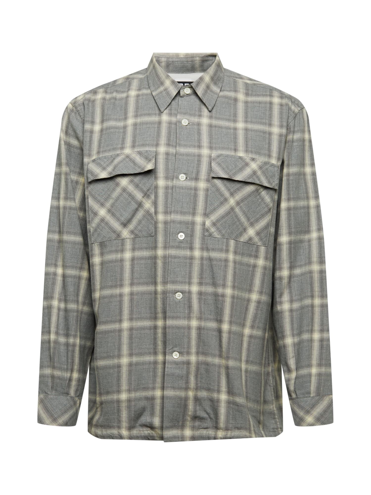 HOPE Marškiniai margai pilka / rusvai pilka / glaisto spalva