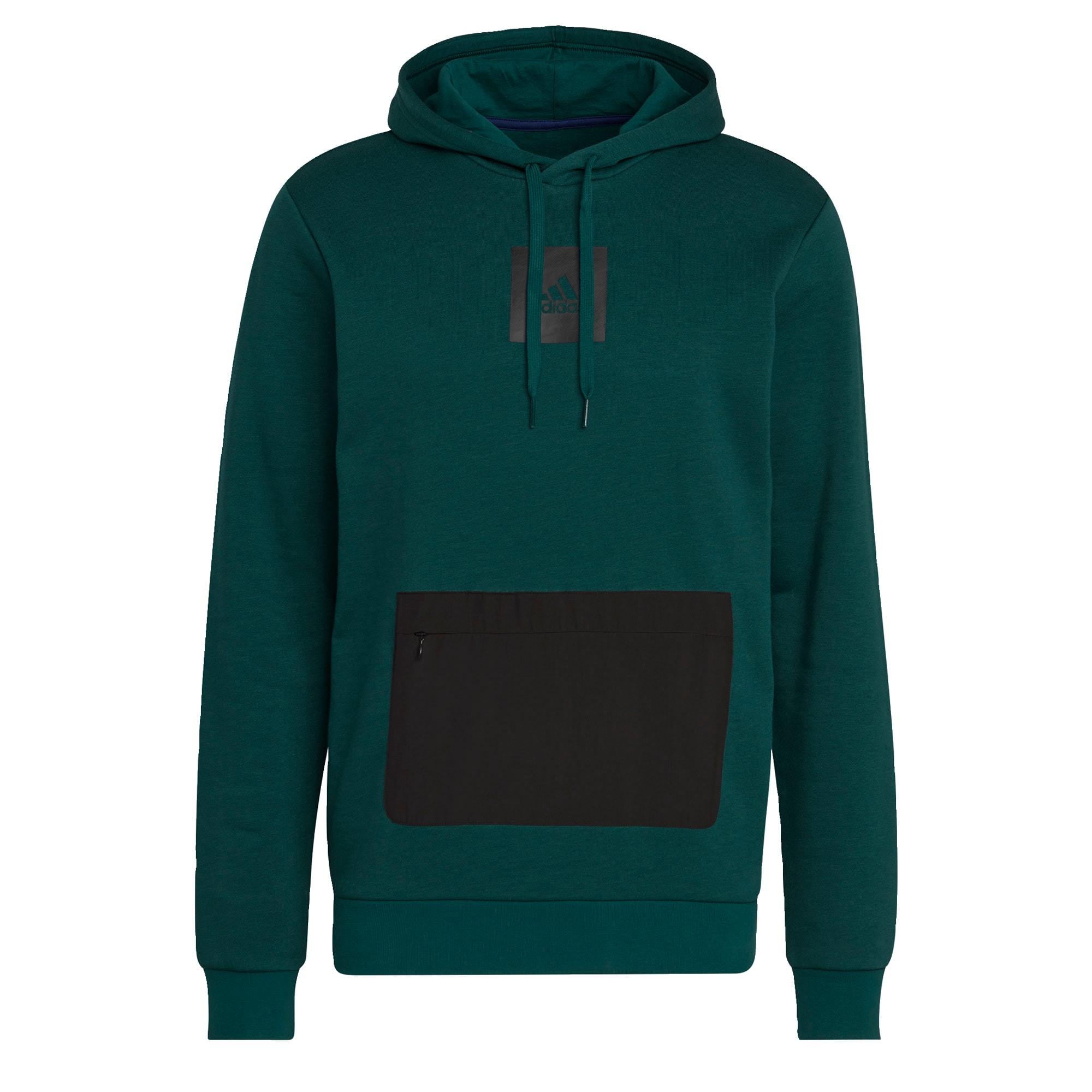 ADIDAS PERFORMANCE Sportovní mikina  smaragdová / černá