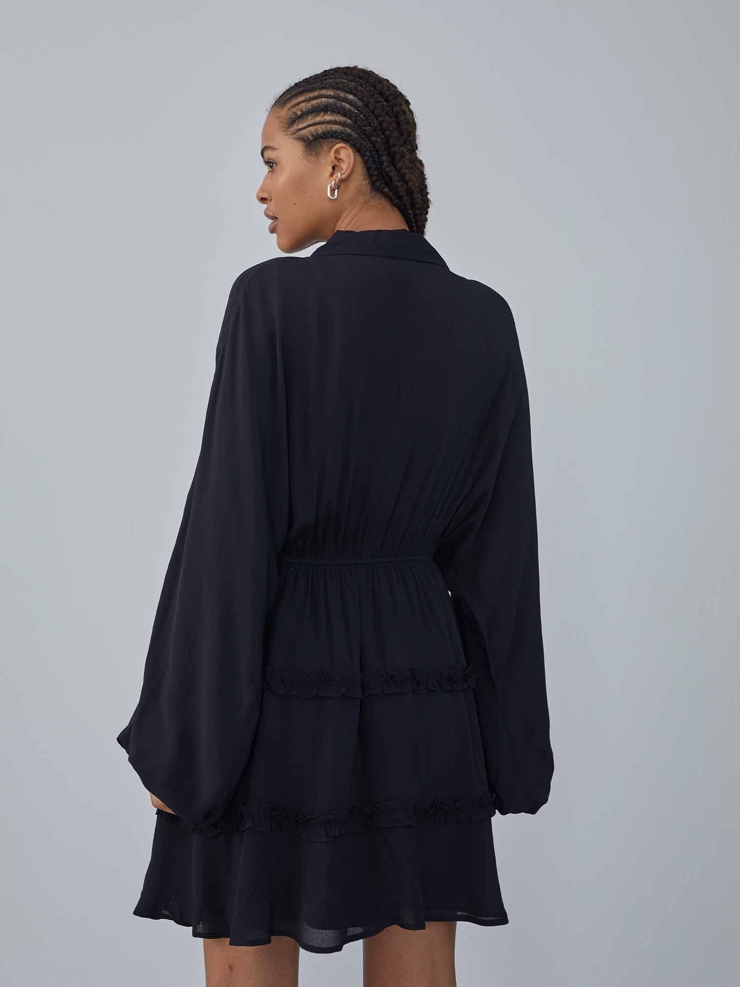 LeGer by Lena Gercke Košeľové šaty 'Fabrice'  čierna.