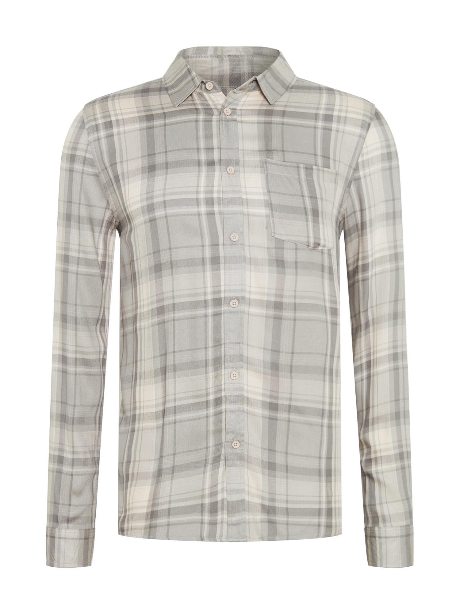 Cotton On Marškiniai šviesiai pilka / balta