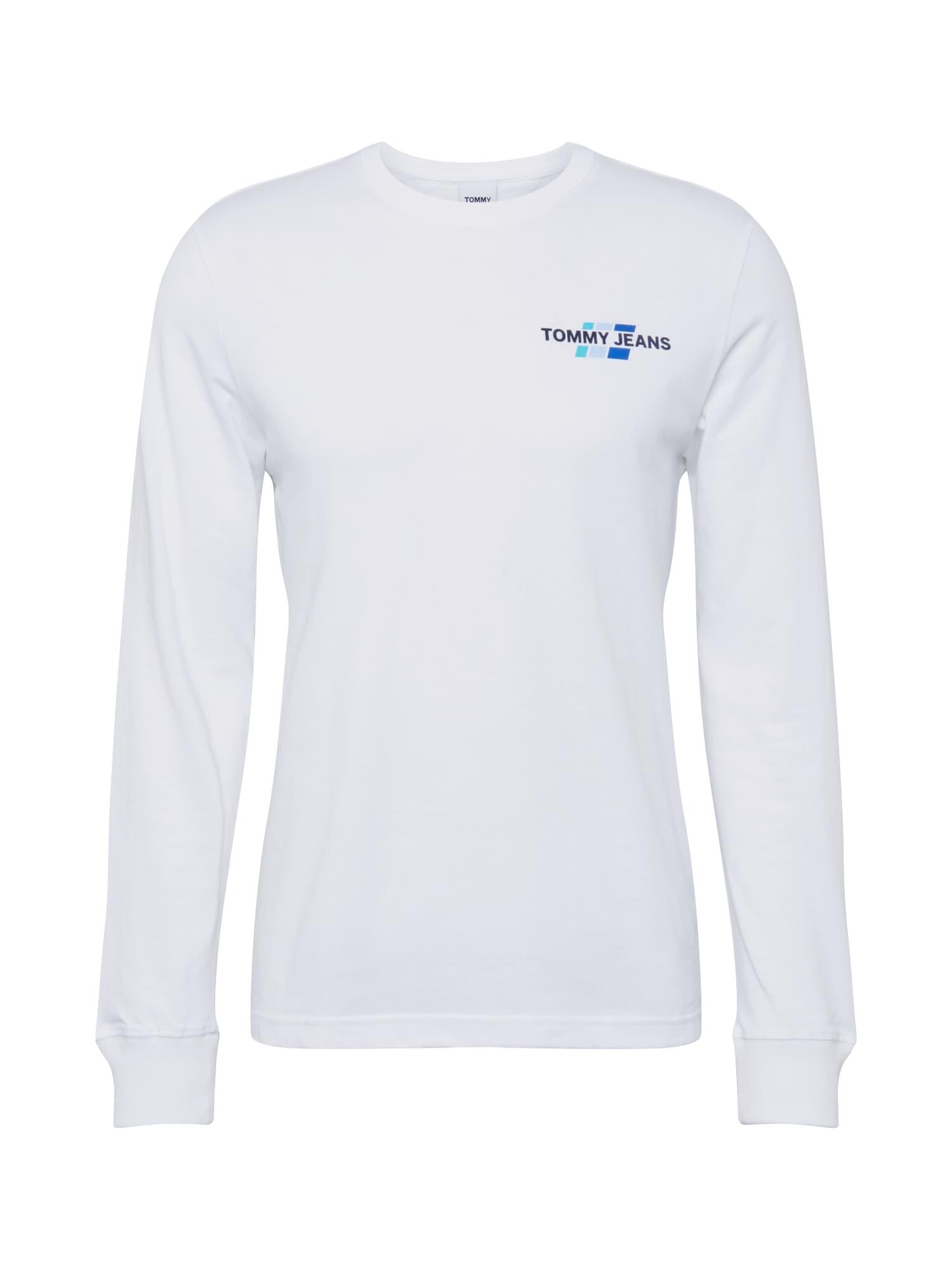 Tommy Jeans Tričko 'Mountain'  přírodní bílá / modrá / tyrkysová / světlemodrá / noční modrá