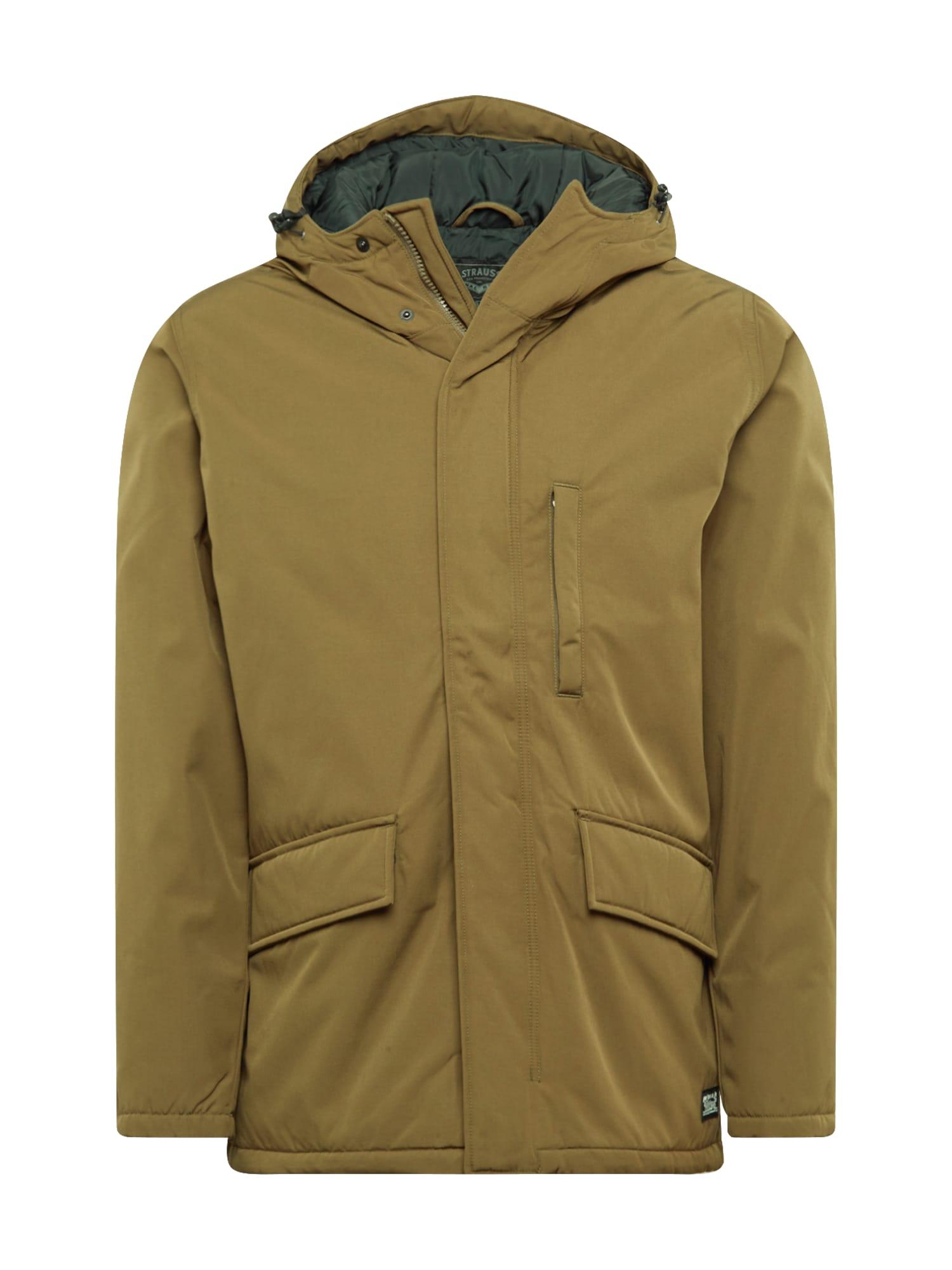 LEVI'S Ilga rudeninė-žieminė striukė 'WOODSIDE' alyvuogių spalva