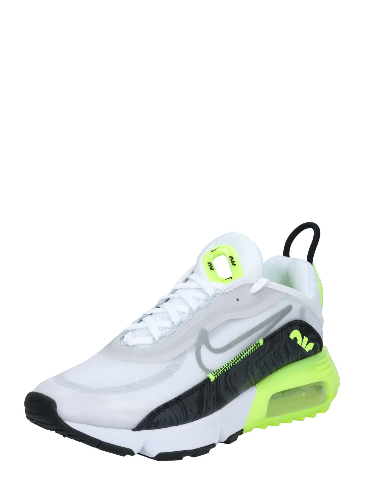 Nike Sportswear Sportbačiai be auliuko balta / juoda / neoninė žalia