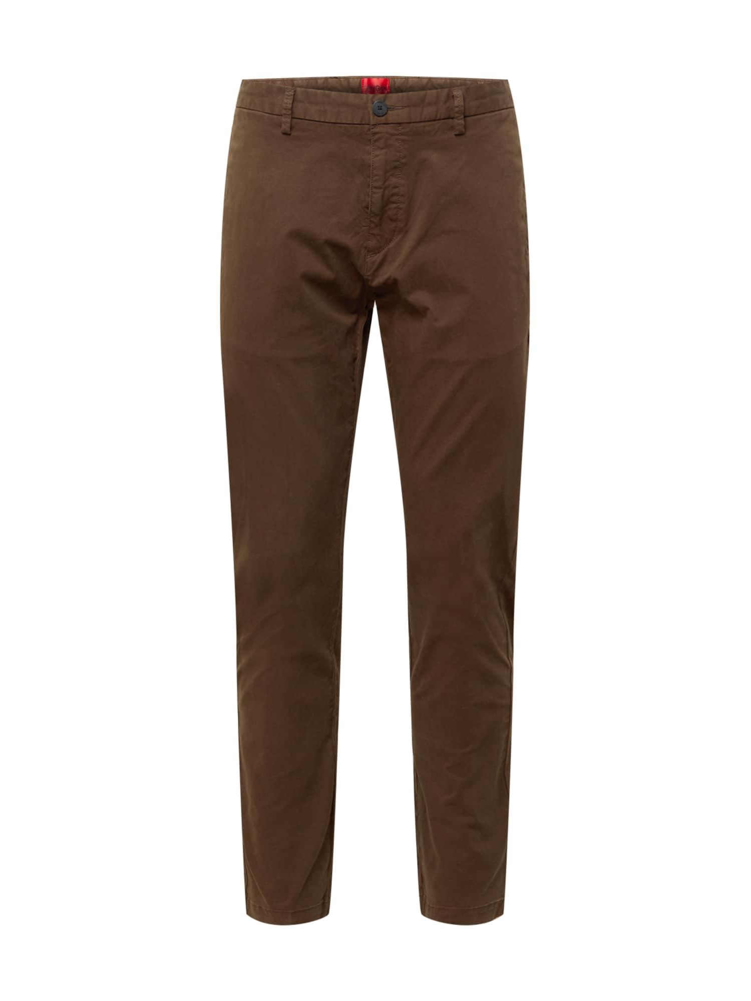 HUGO Chino kalhoty 'David'  hnědá