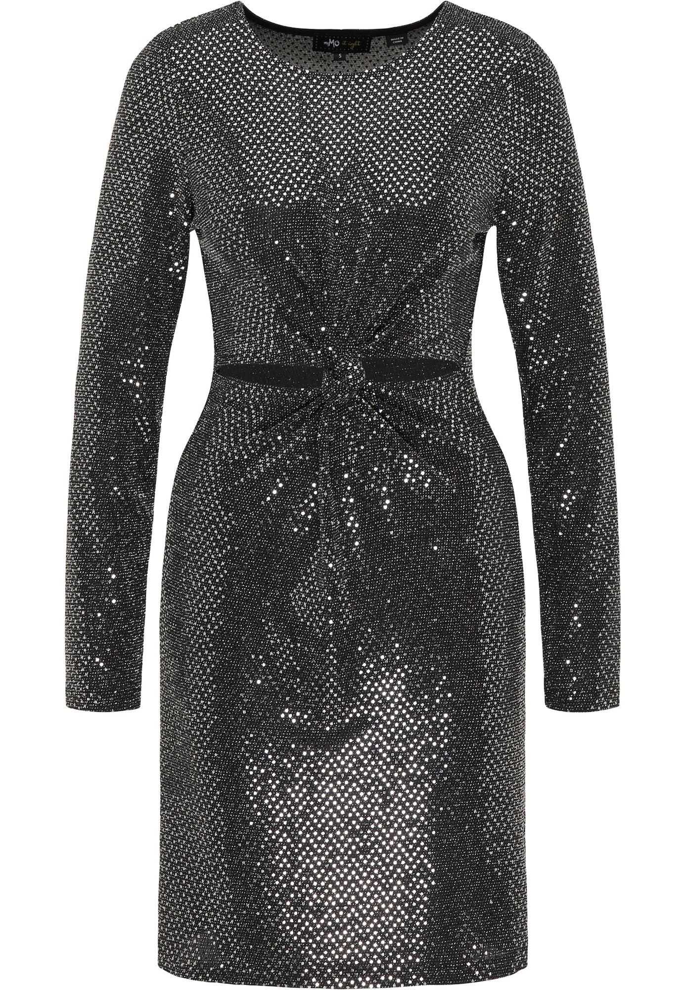 myMo at night Kokteilinė suknelė sidabrinė / juoda
