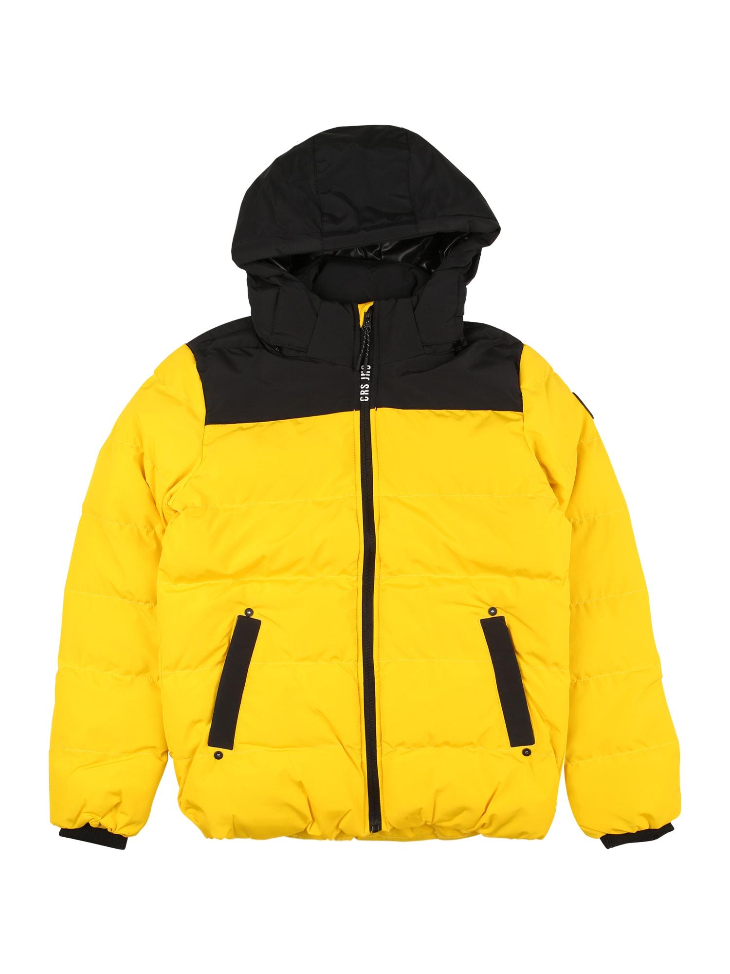 Cars Jeans Žieminė striukė 'SCOLO' geltona / juoda