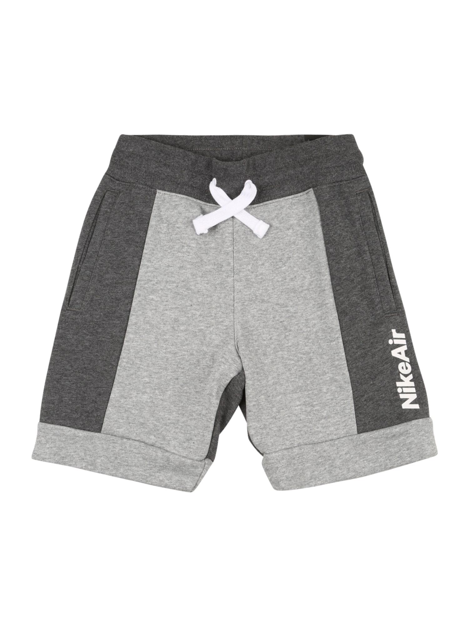 NIKE Sportovní kalhoty  tmavě šedá / šedá