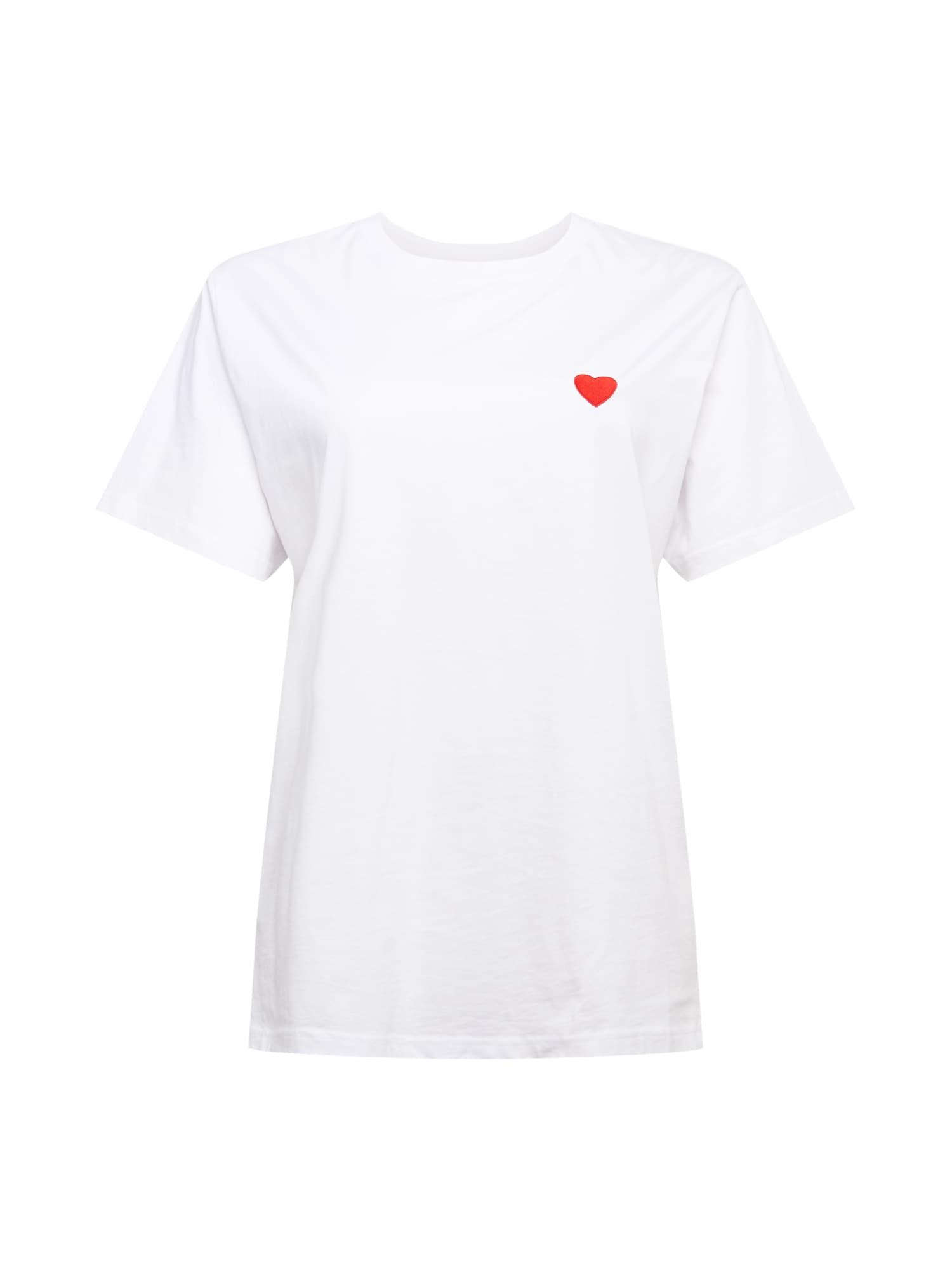 Mister Tee Curvy Marškinėliai balta / raudona / juoda