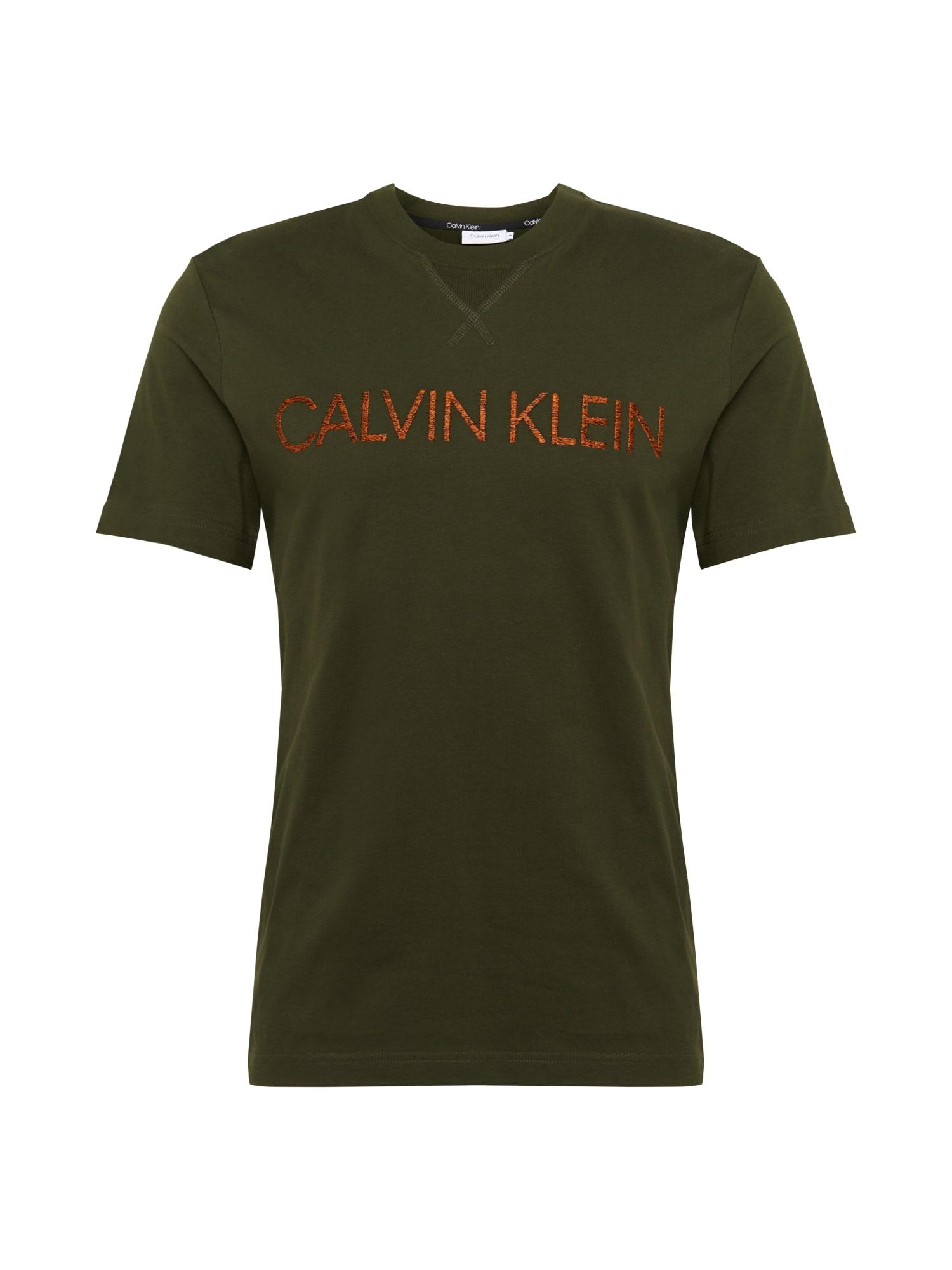 Calvin Klein Tričko  olivová