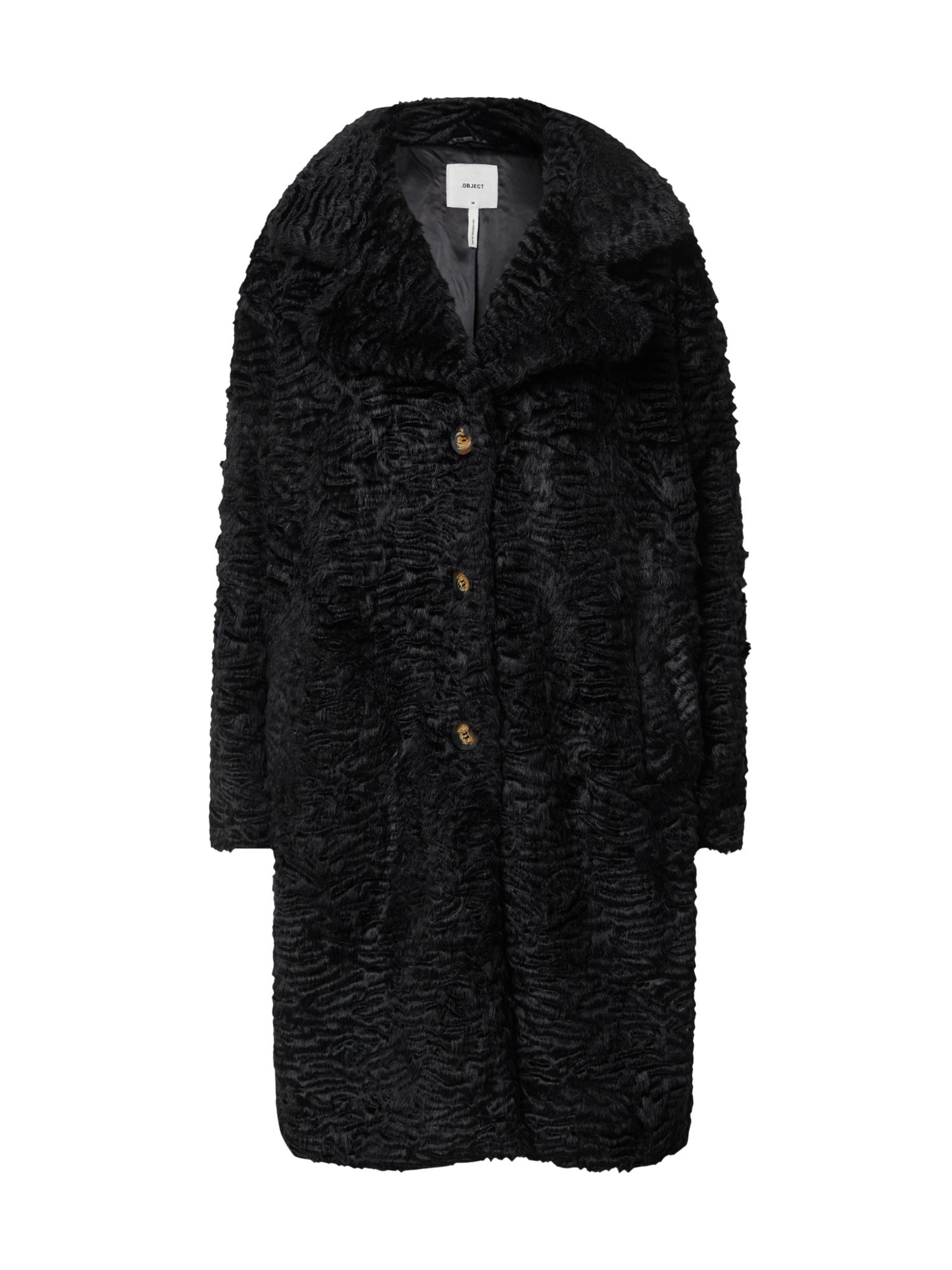 OBJECT Žieminis paltas juoda