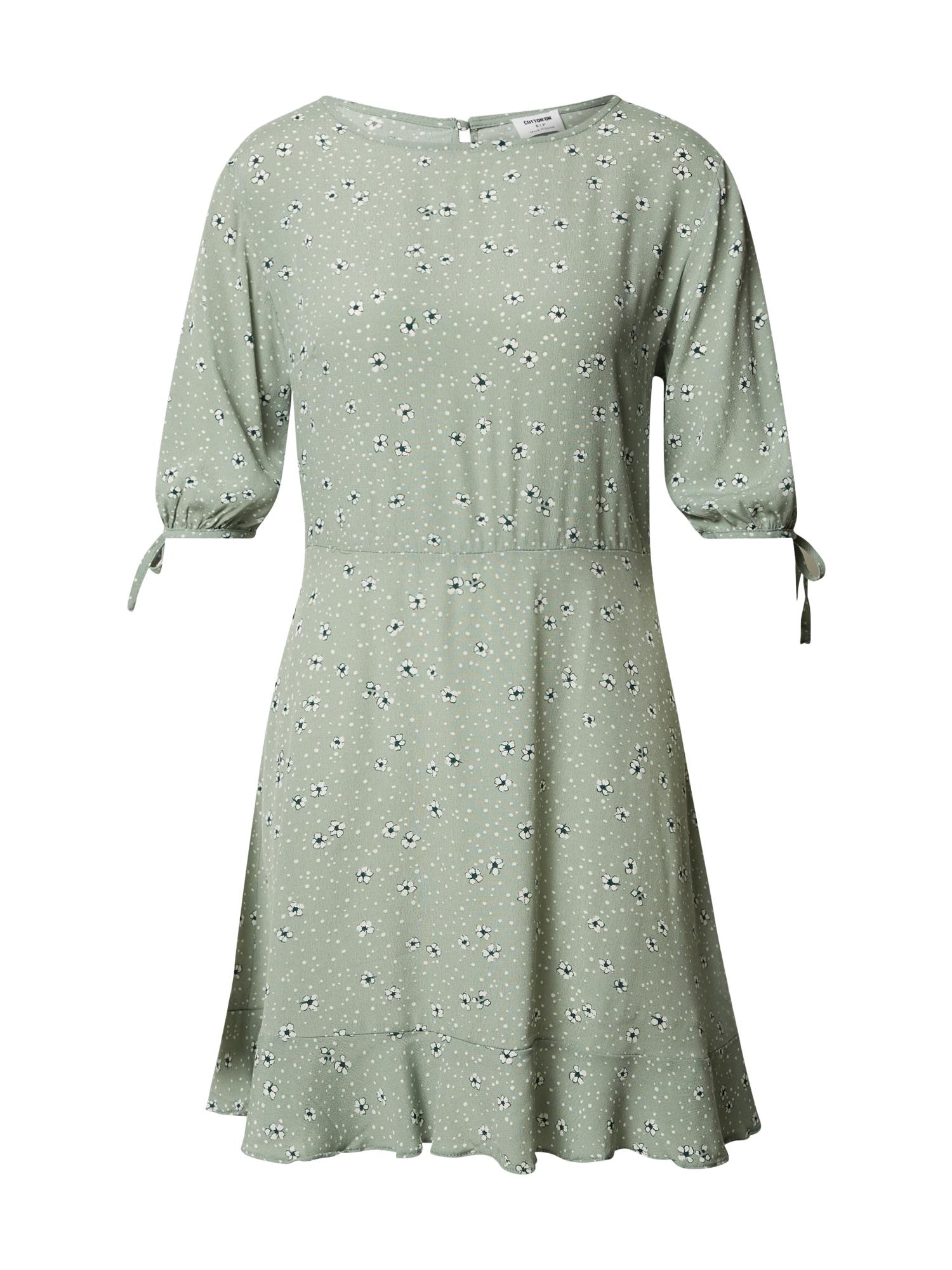 Cotton On Šaty 'Lucie'  nefritová / bílá / modrá
