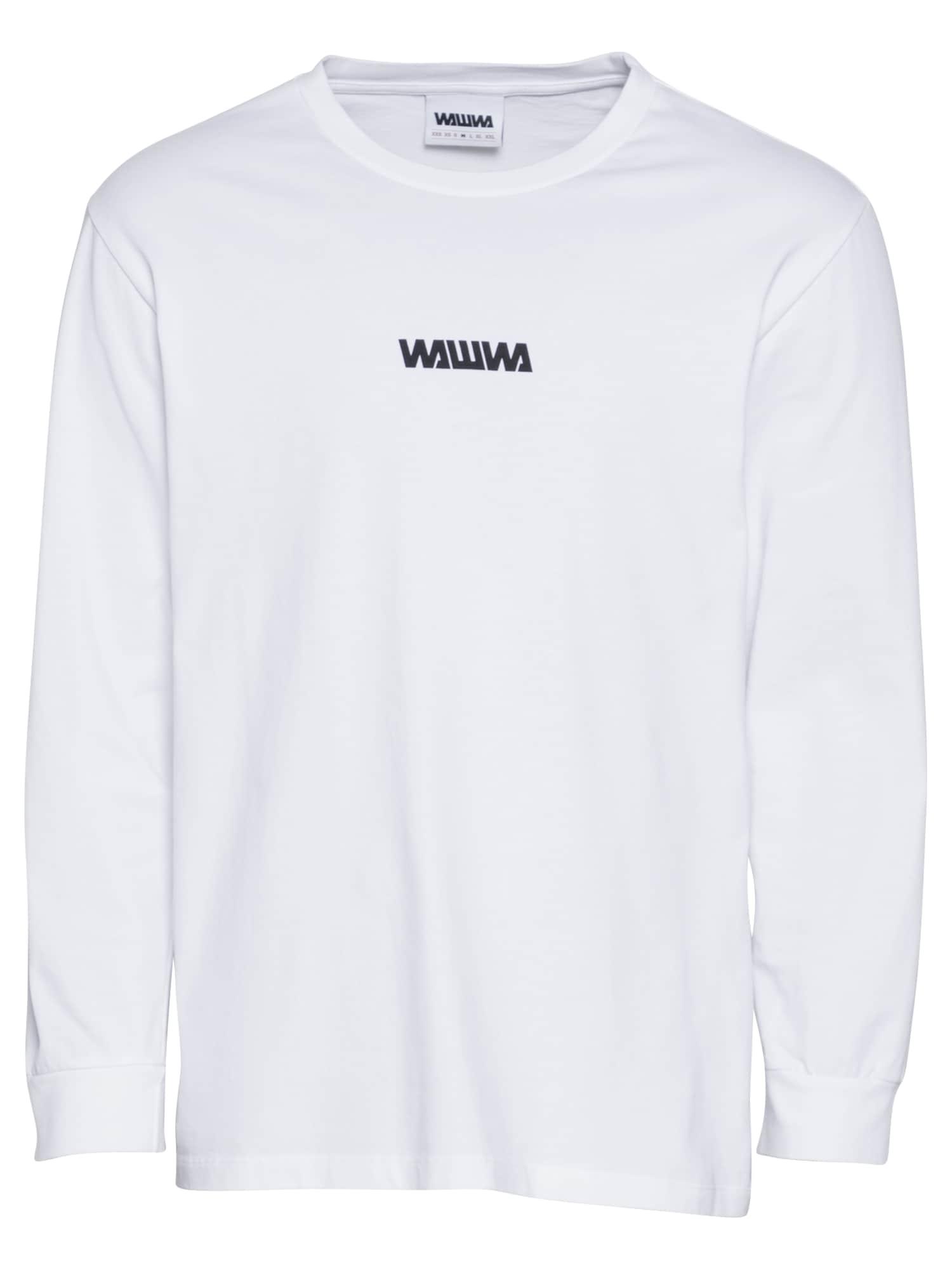 WAWWA Marškinėliai balta / juoda