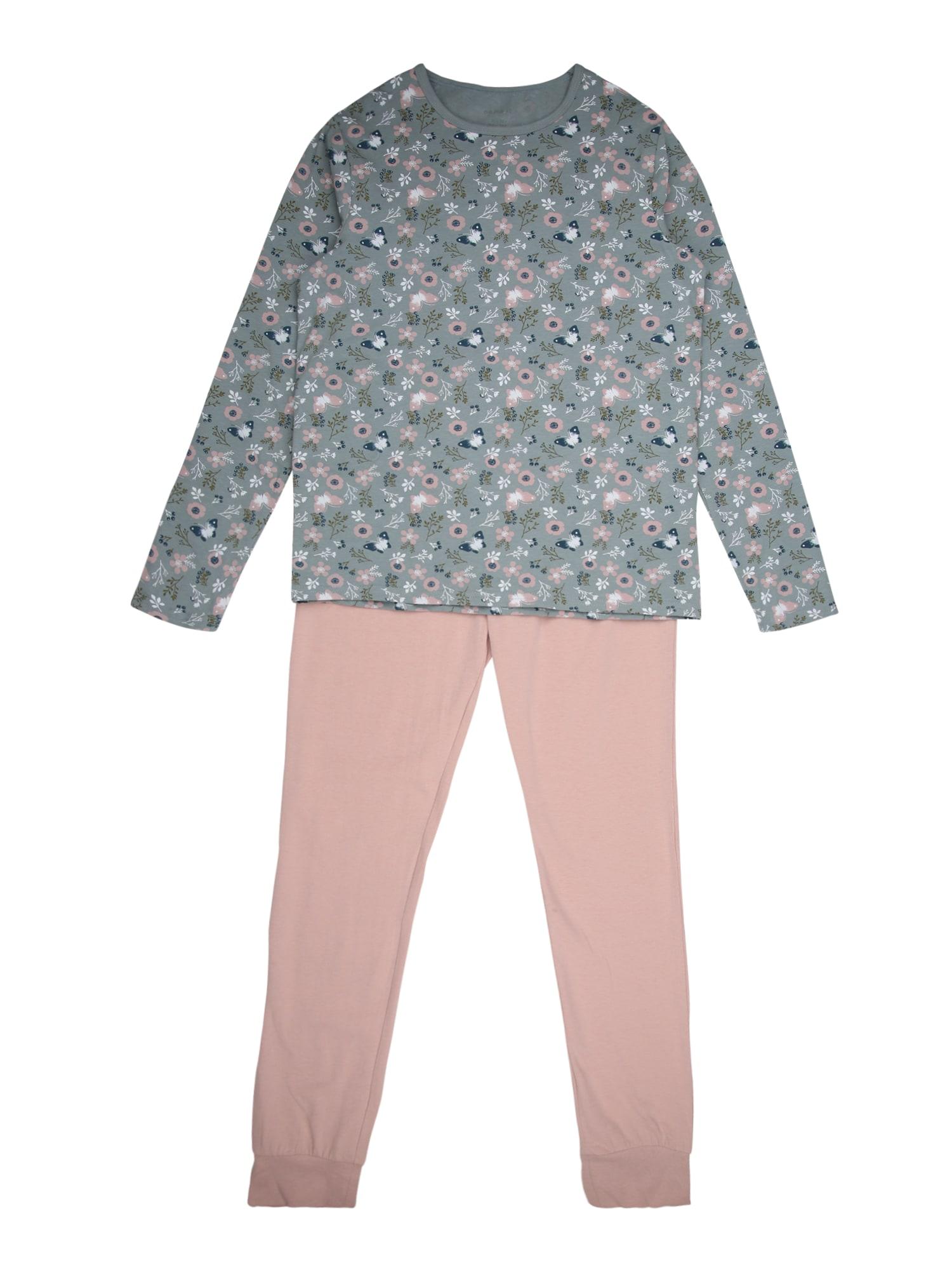 NAME IT Miego kostiumas rožių spalva / pastelinė mėlyna
