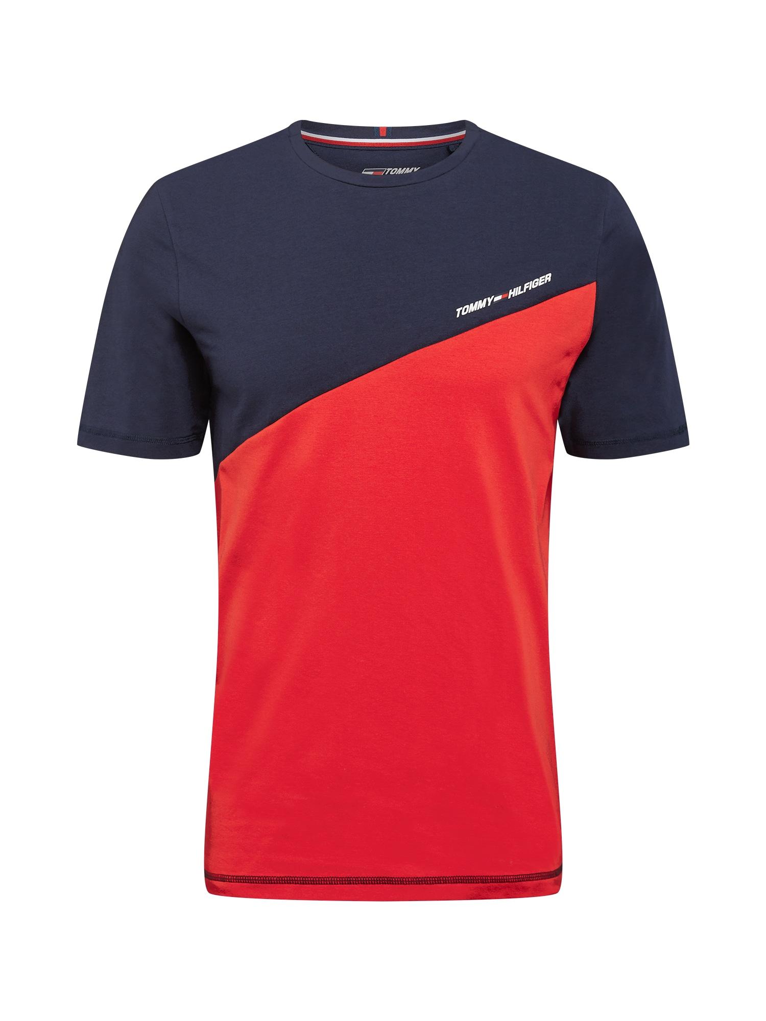 Tommy Sport Sportiniai marškinėliai raudona / tamsiai mėlyna / balta