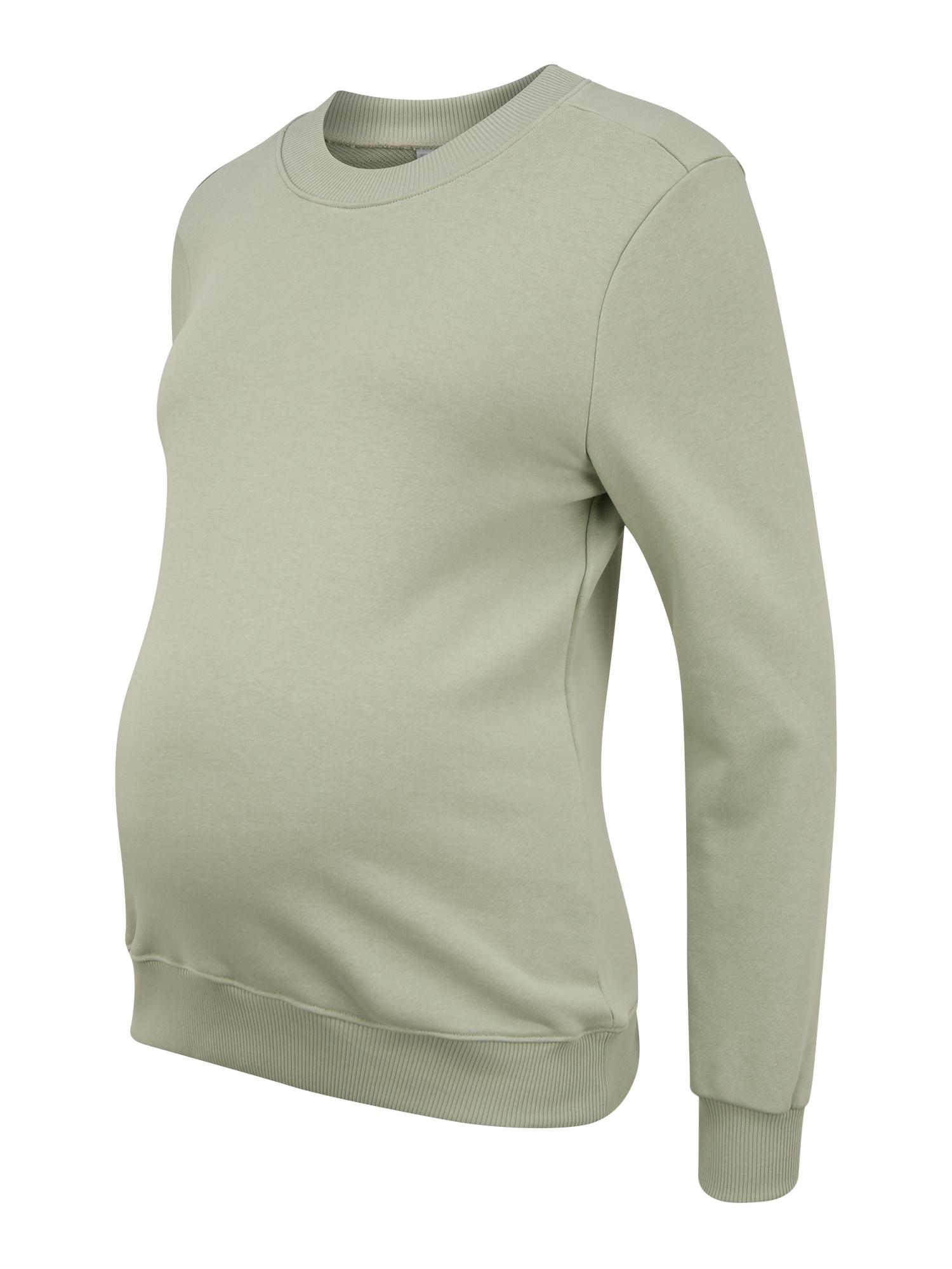 Pieces Maternity Megztinis be užsegimo 'PIP' šviesiai žalia