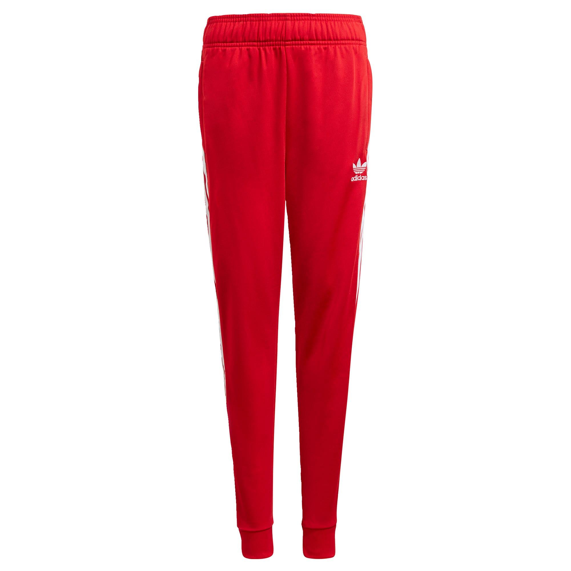 ADIDAS ORIGINALS Kalhoty 'Adicolor SST'  červená / bílá